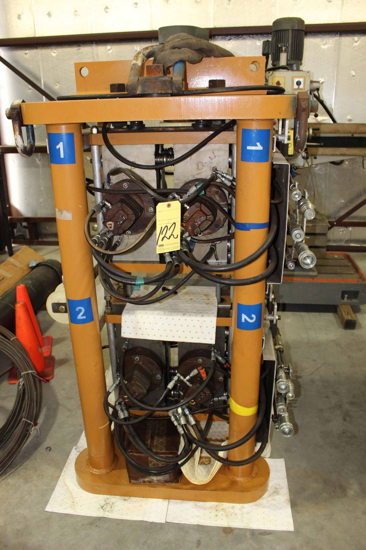 HYDRAULIC DRIVEN ROLLER INJECTOR UNIT, 8,000 lb  approx  push/pull