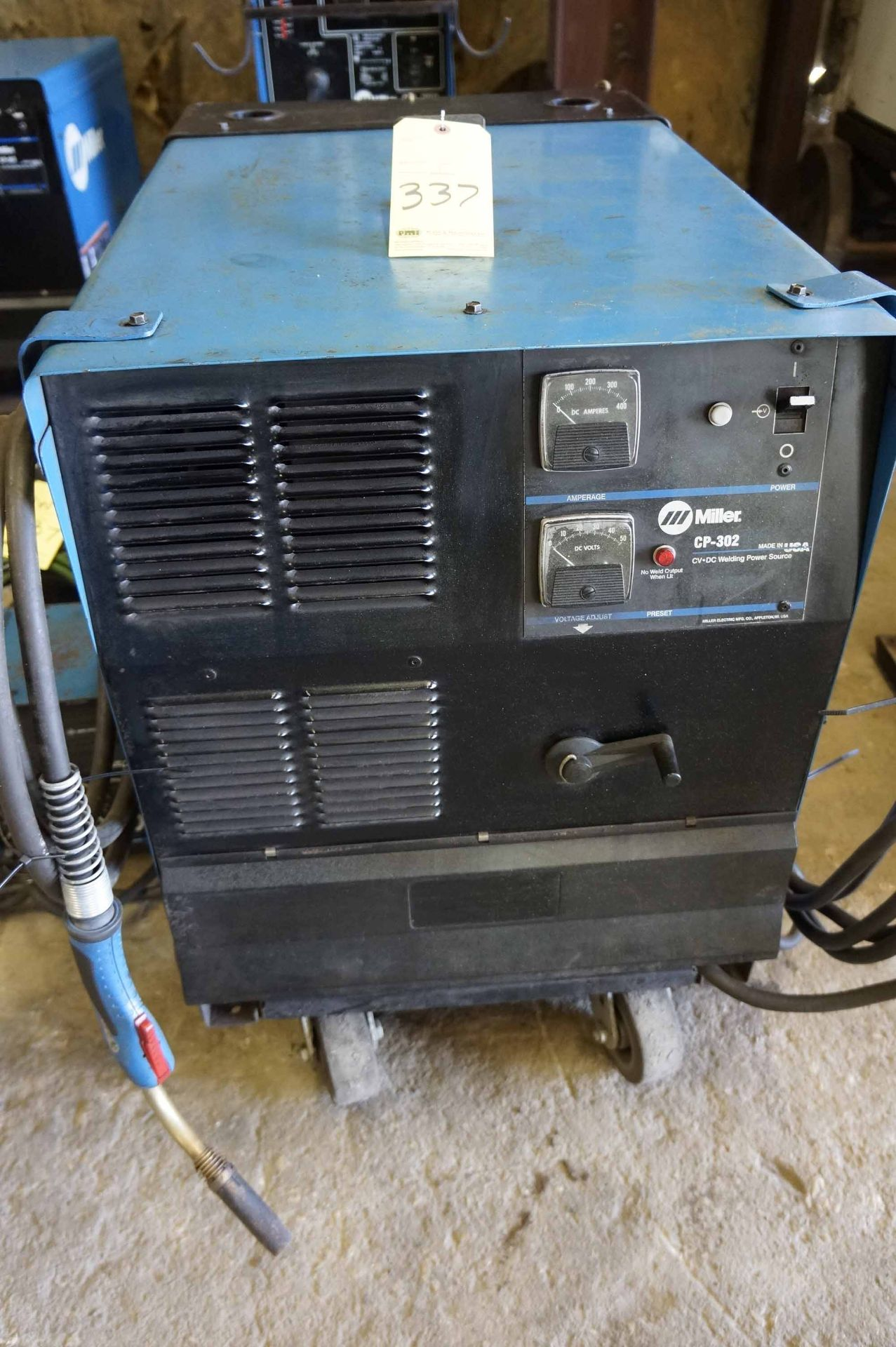 Choice of lots: 336, 337 } WELDING POWER SUPPLY, MILLER MDL  CP302