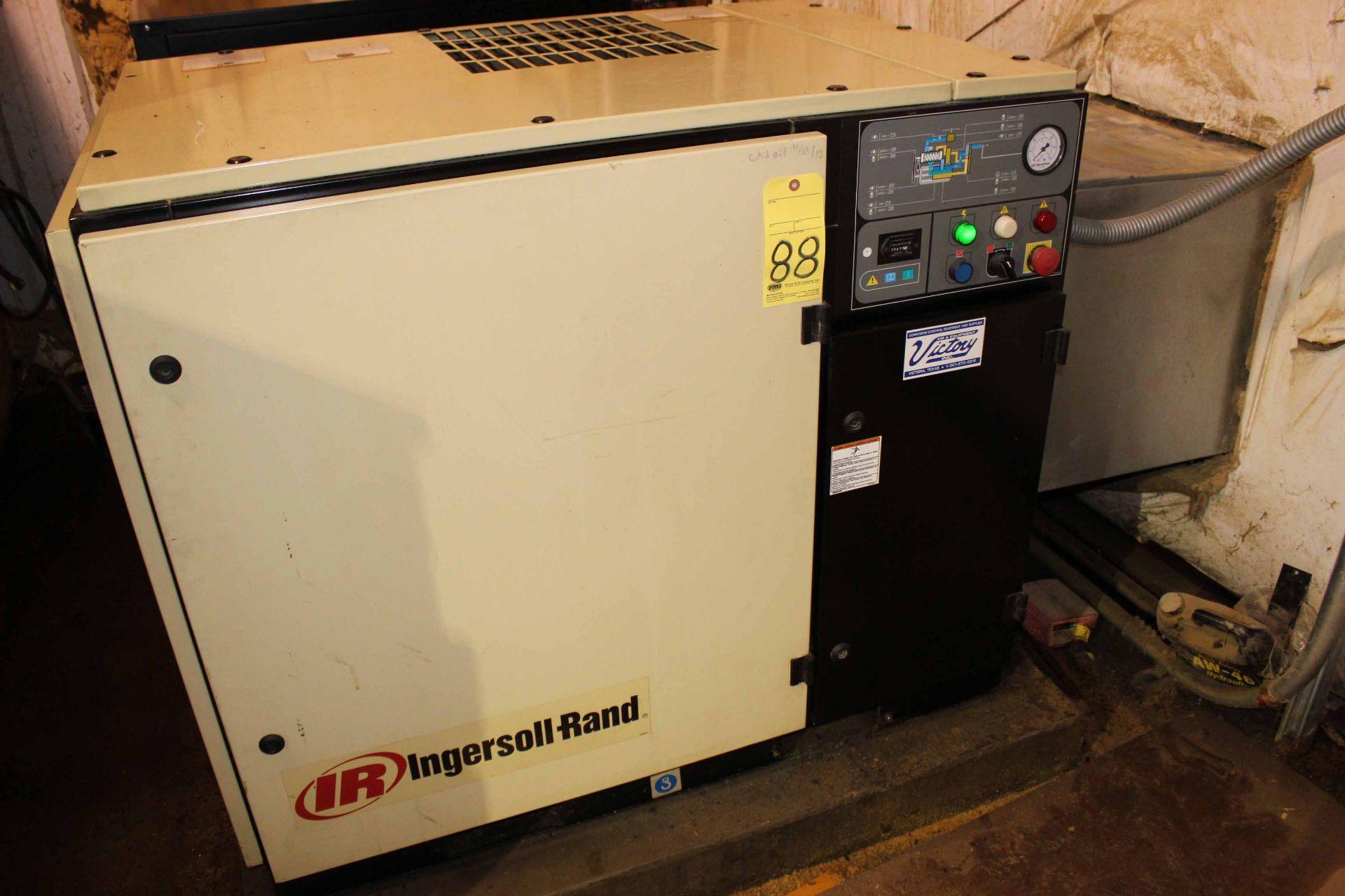 Lot 88 - AIR COMPRESSOR, INGERSOLL RAND MDL. SSRUP6-30-125, PX0138U0212, 30 HP motor, 125 max. PSI