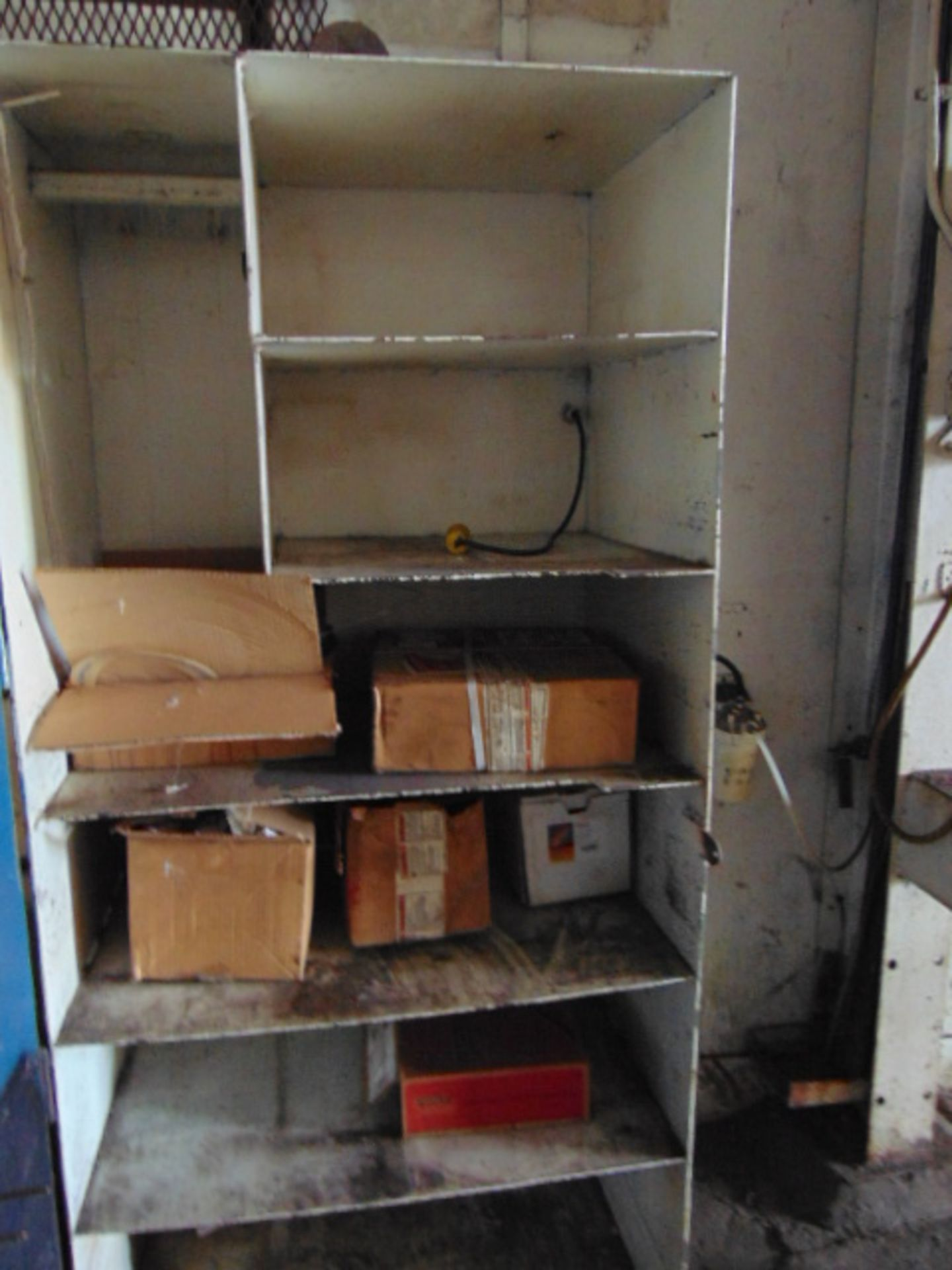 Lot 225 - LOT CONSISTING OF: (2) cabinets, table, w/contents