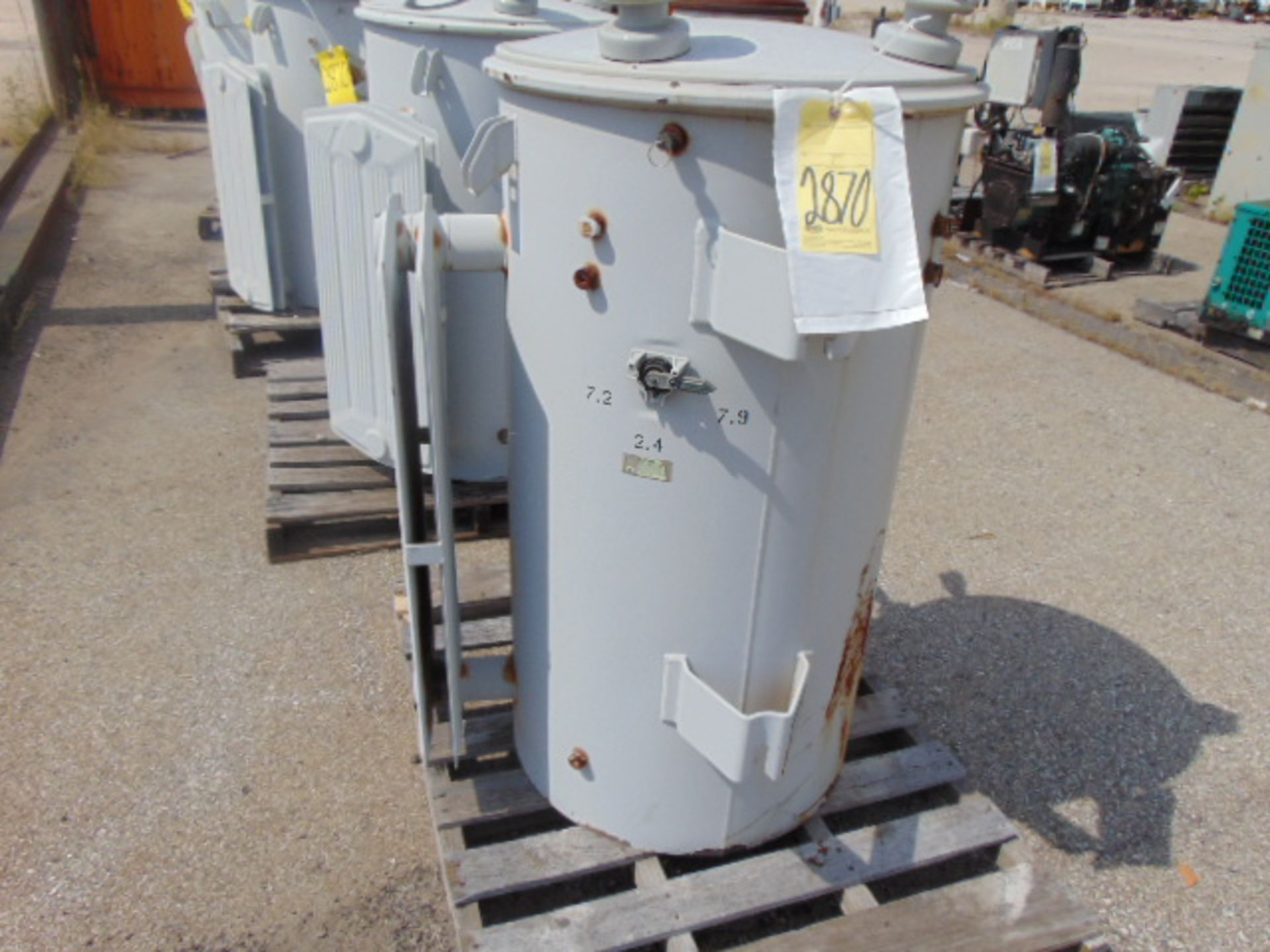 Lot 2870 - LOT OF DISTRIBUTION TRANSFORMERS (4), G.E., 333 KVA