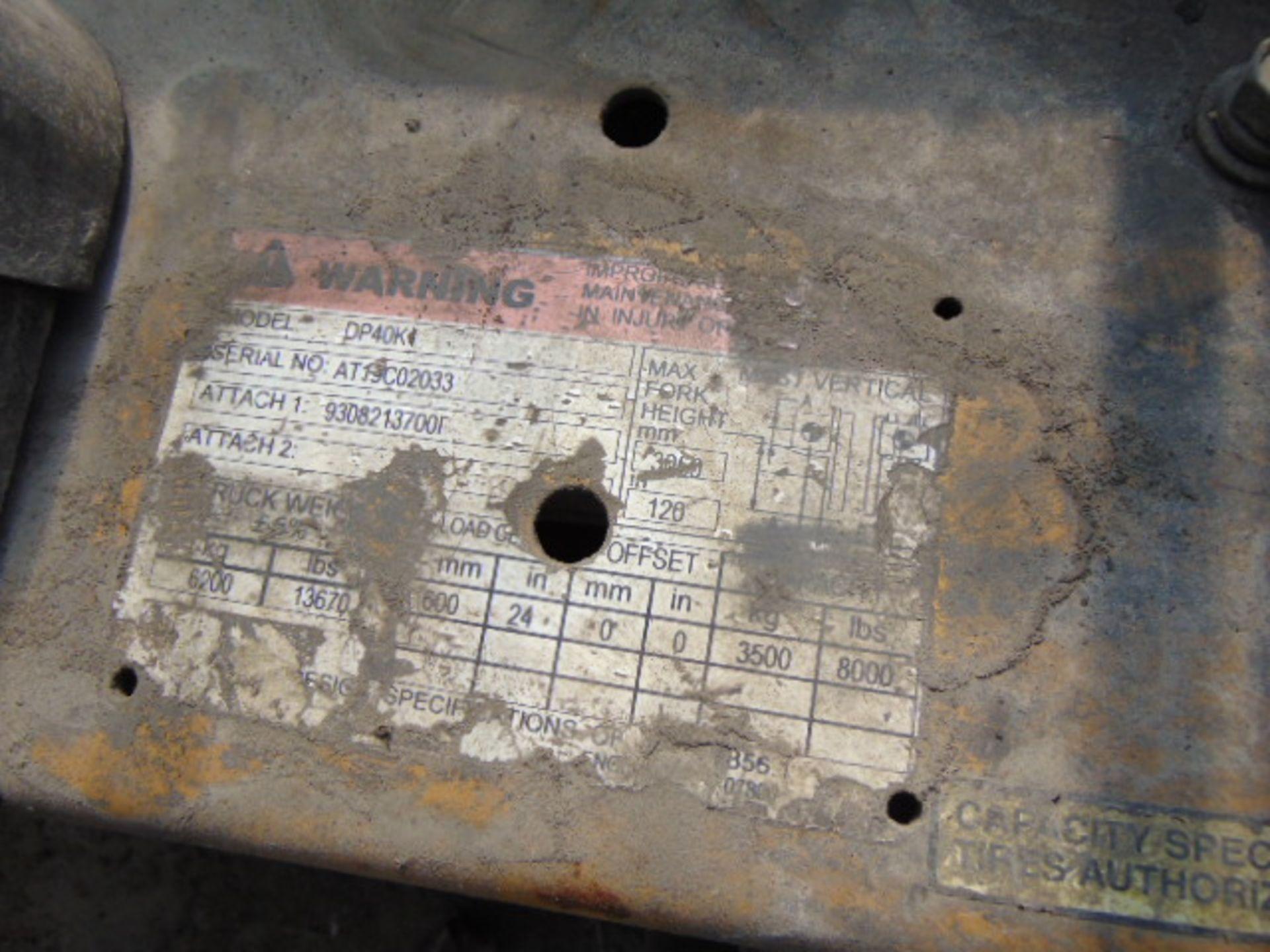 """Lot 3351 - FORKLIFT, CATERPILLAR 8,000 LB. CAP. MDL. DP40K1, diesel pwrd., 72"""" forks, side shift, fully"""