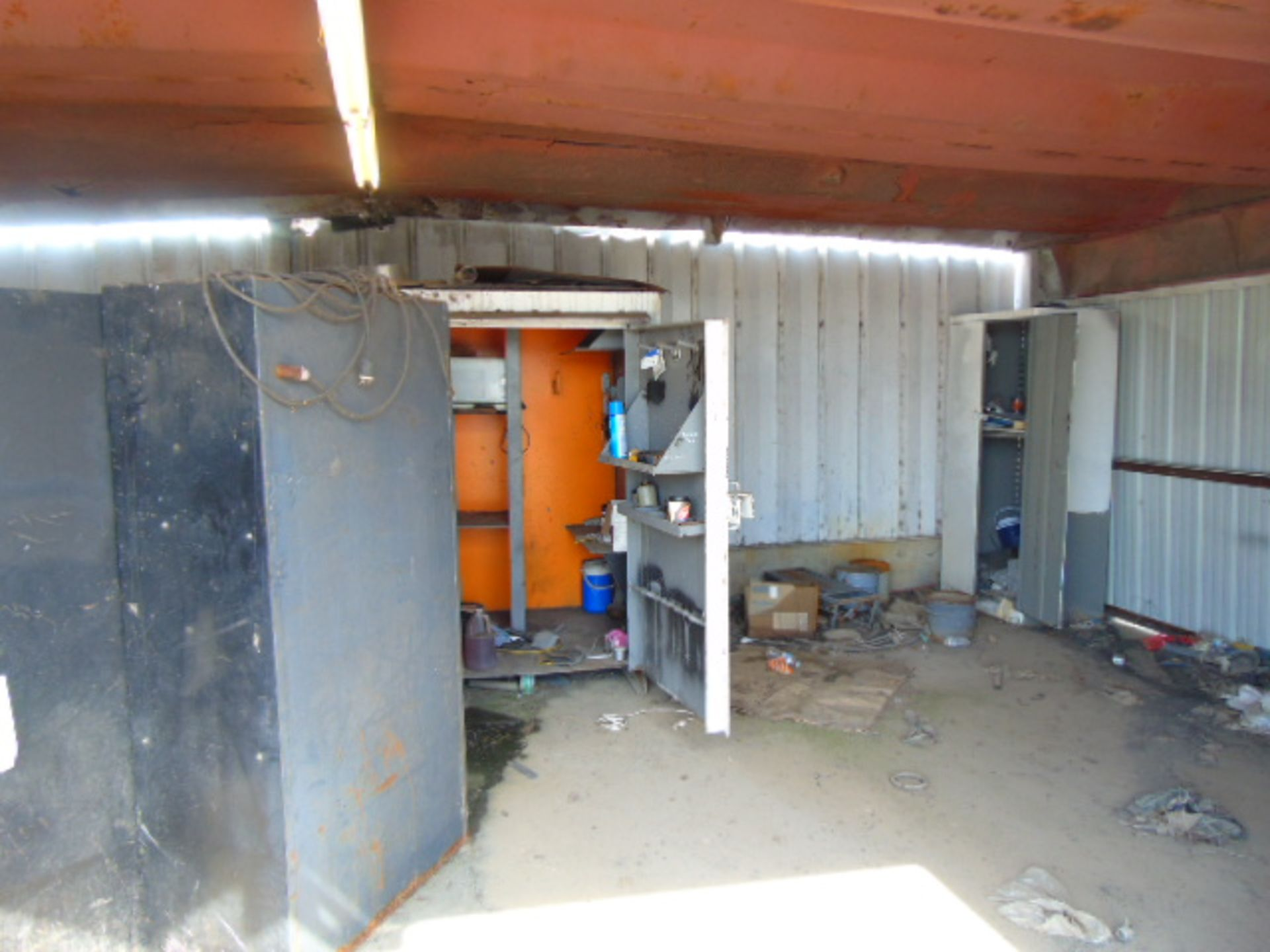 Lot 2848 - LOT CONSISTING OF: (3) cabinets & misc., assorted (in one room)