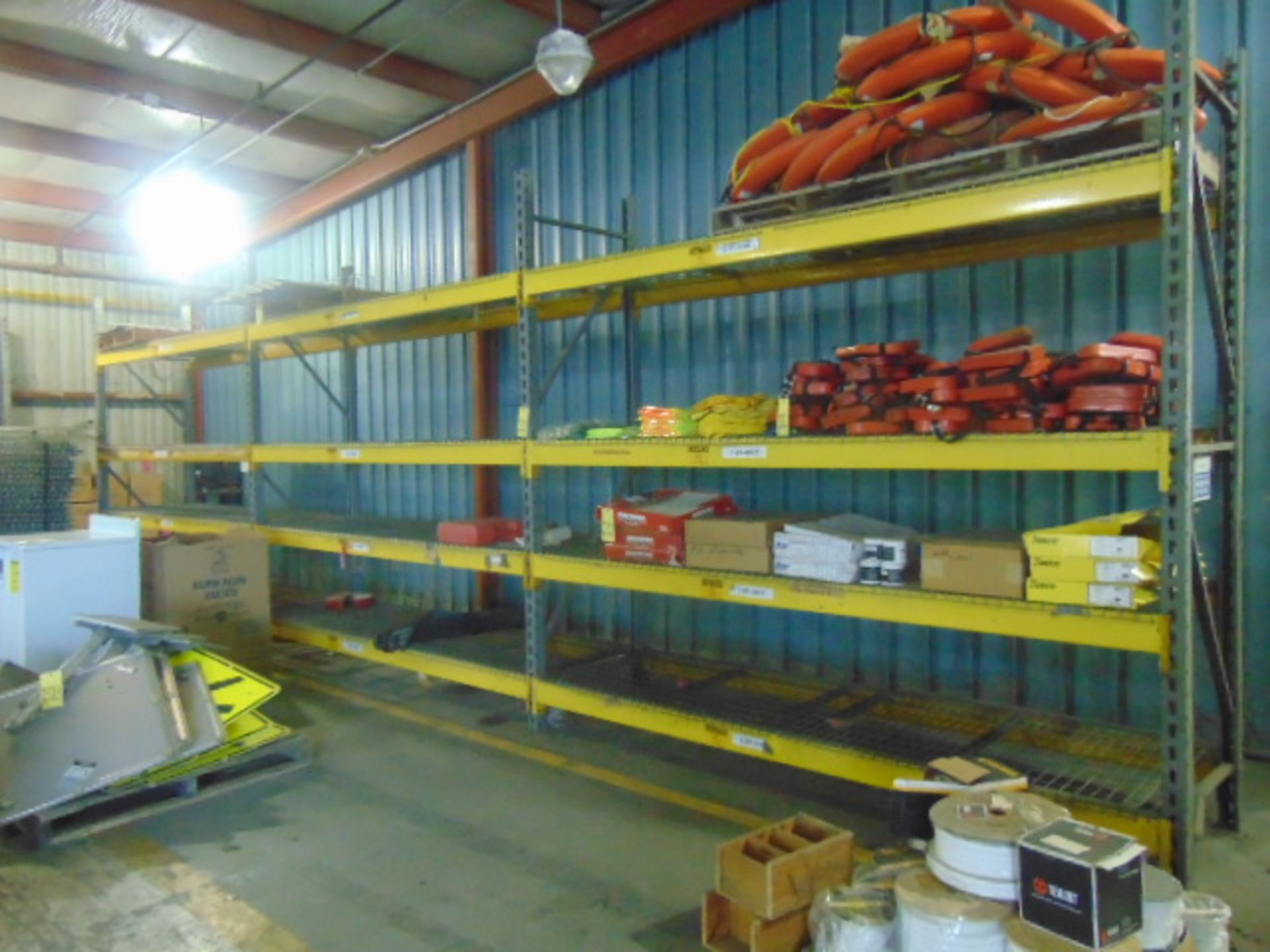 Lot 2327 - LOT OF PALLET RACKET SECTIONS (3), 10' T. x 10' W. x 3' dp. (cannot be removed until contents have