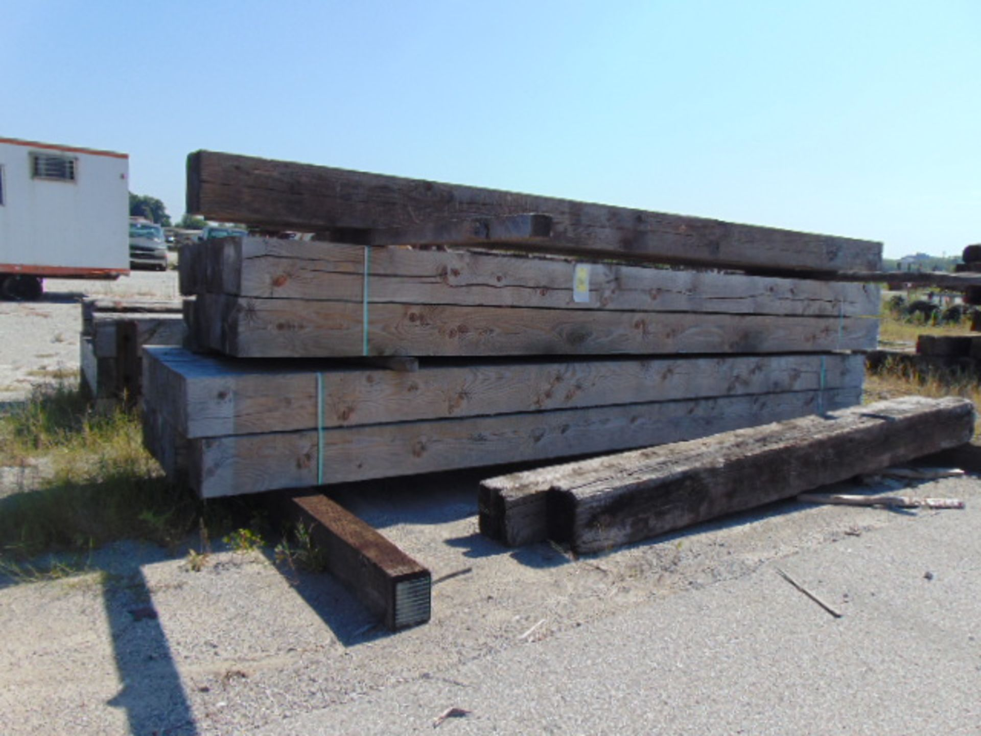 """Lot 3003 - LOT OF TIMBERS, 12"""" X 12"""", assorted (in one row)"""