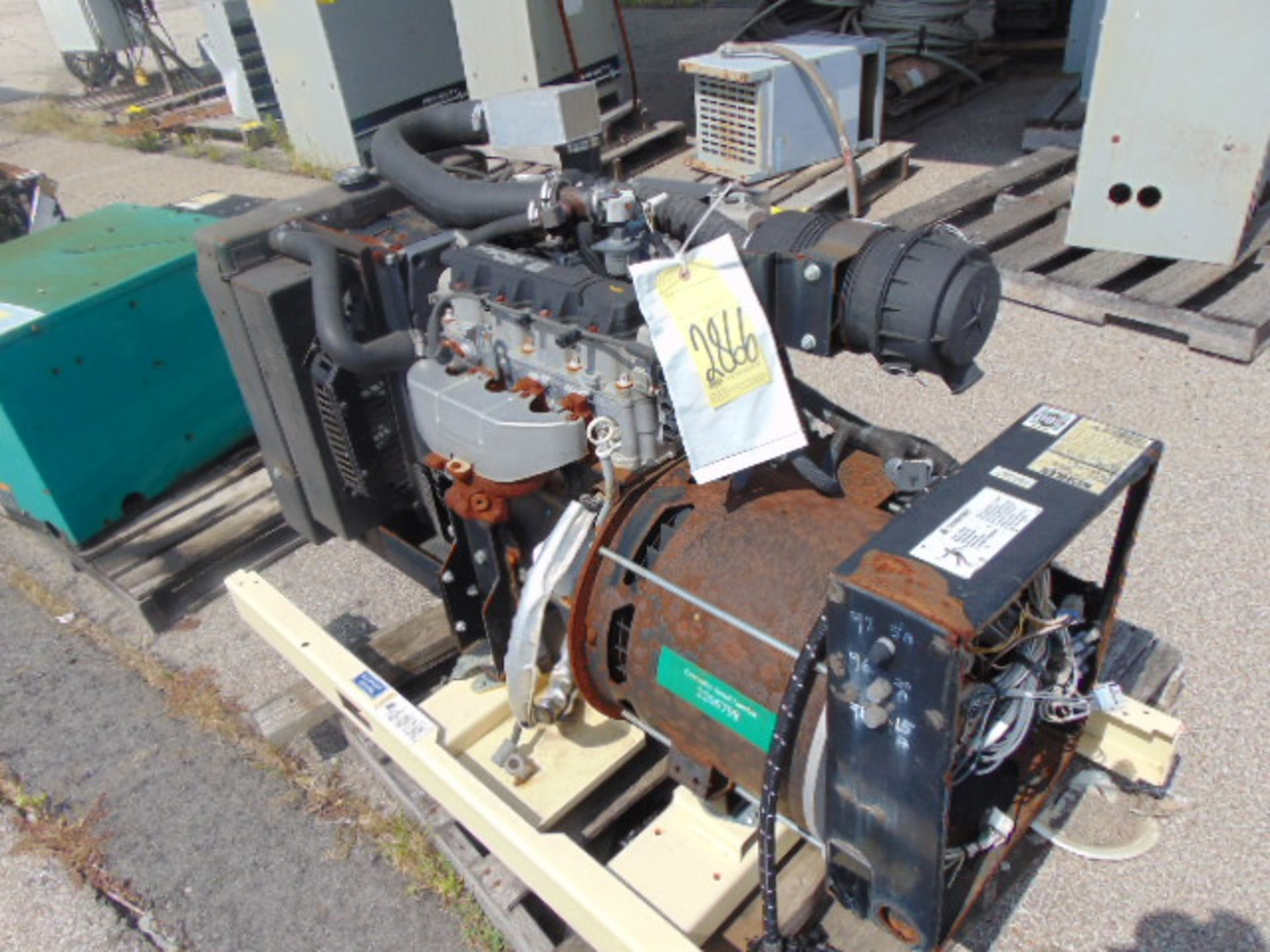 Lot 2866 - GENERATOR, KOHLER MDL. 30RYG, G.M. Vortex 1600 gasoline pwrd. engine
