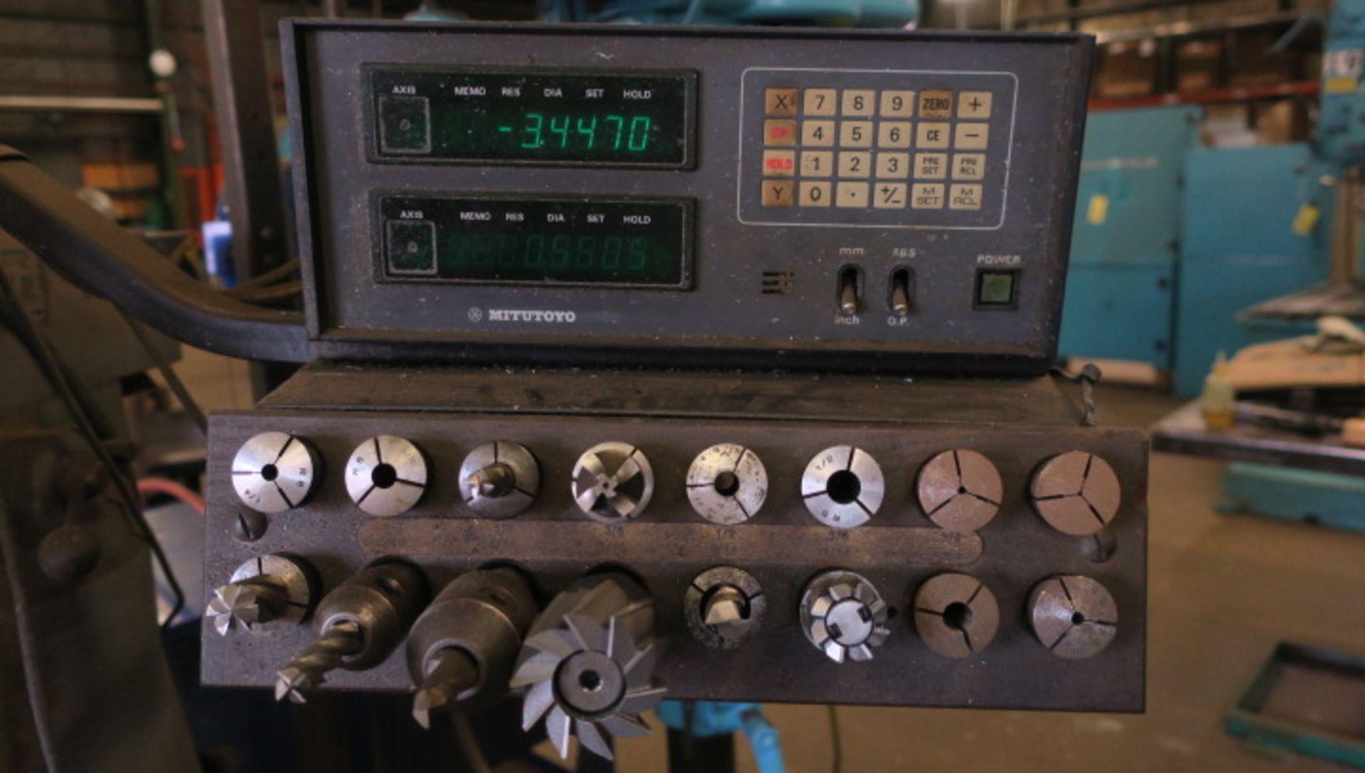 "Lot 9 - VERTICAL MILLING MACHINE, BRIDGEPORT MDL. 2J, 9"" x 42"" table, variable spd. head, spds: 60-4200 RPM,"