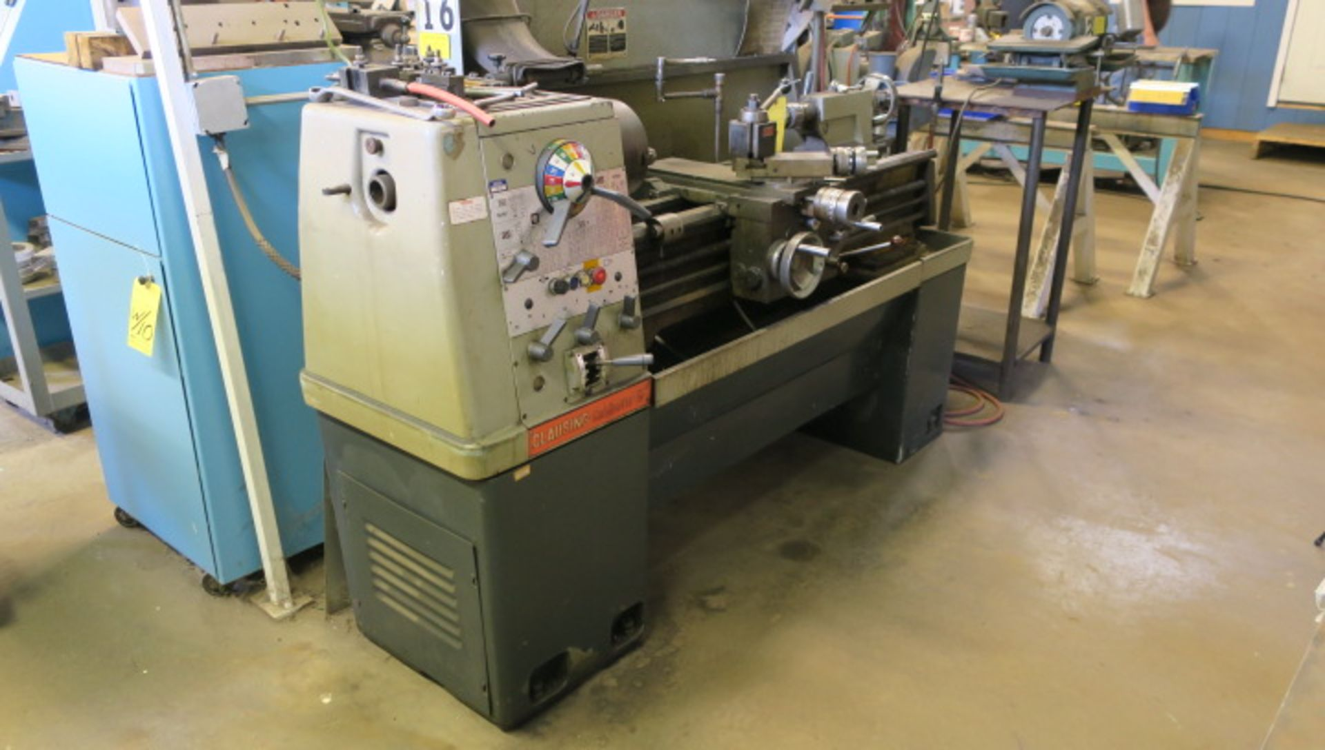 "Lot 11 - ENGINE LATHE, CLAUSING COLCHESTER 13"" X 30"", 2-1/4"" spdl. hole, spds: 25-2000 RPM, inch/metric"