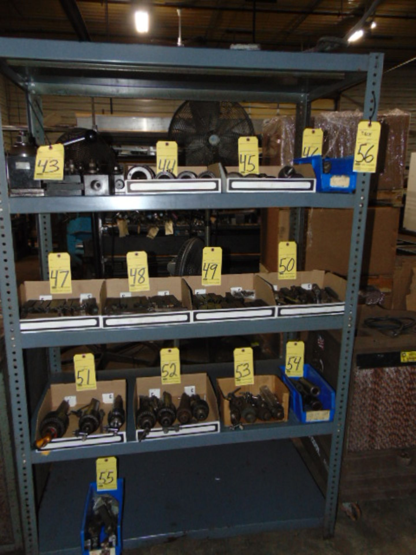 """Lot 56 - ADJUSTABLE STEEL SHELF, 72"""" ht. x 48"""" W. x 24"""" dp. (cannot be removed until contents have been"""
