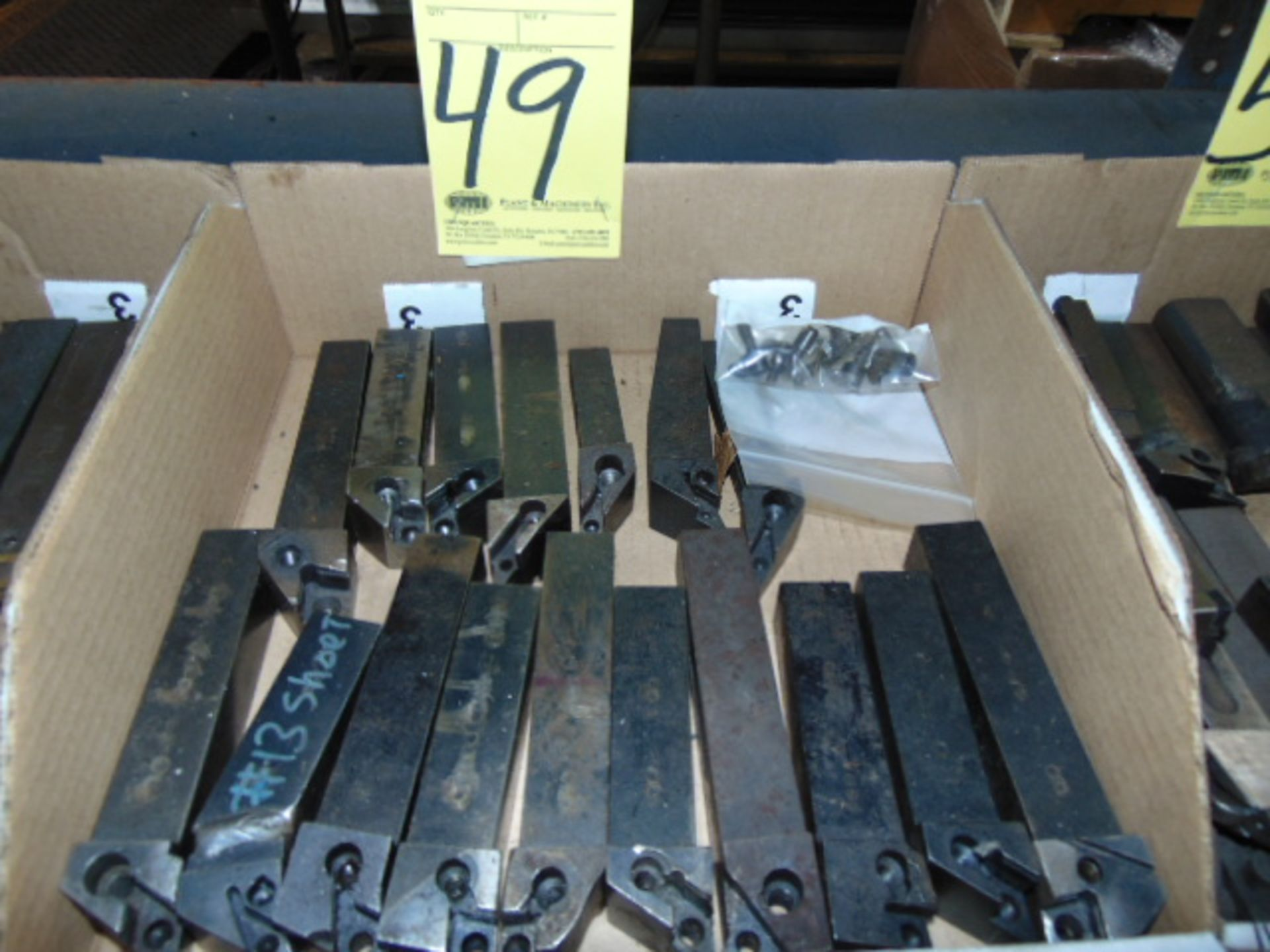 Lot 49 - LOT OF INDEXABLE TURNING HOLDERS, assorted (in one box)