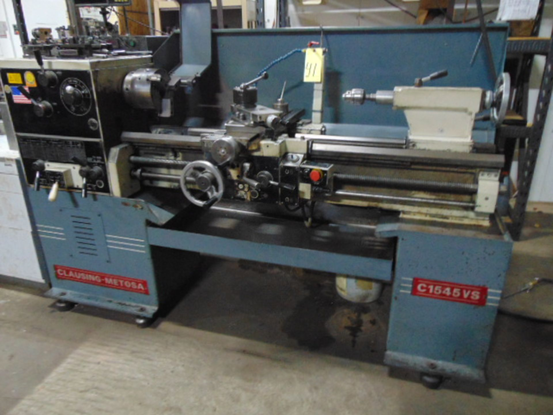 "Lot 41 - ENGINE LATHE, CLAUSING METOSA 15"" X 45"" MDL. C1545VS, approx. 9"" sw. over crosslide, variable"