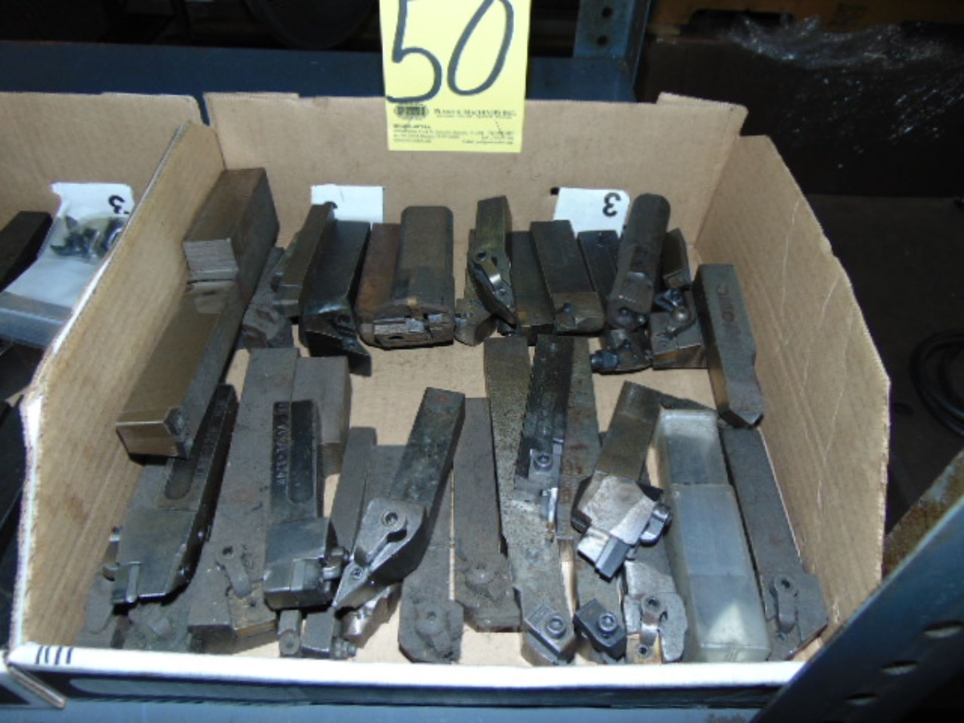 Lot 50 - LOT OF INDEXABLE TURNING HOLDERS, assorted (in one box)