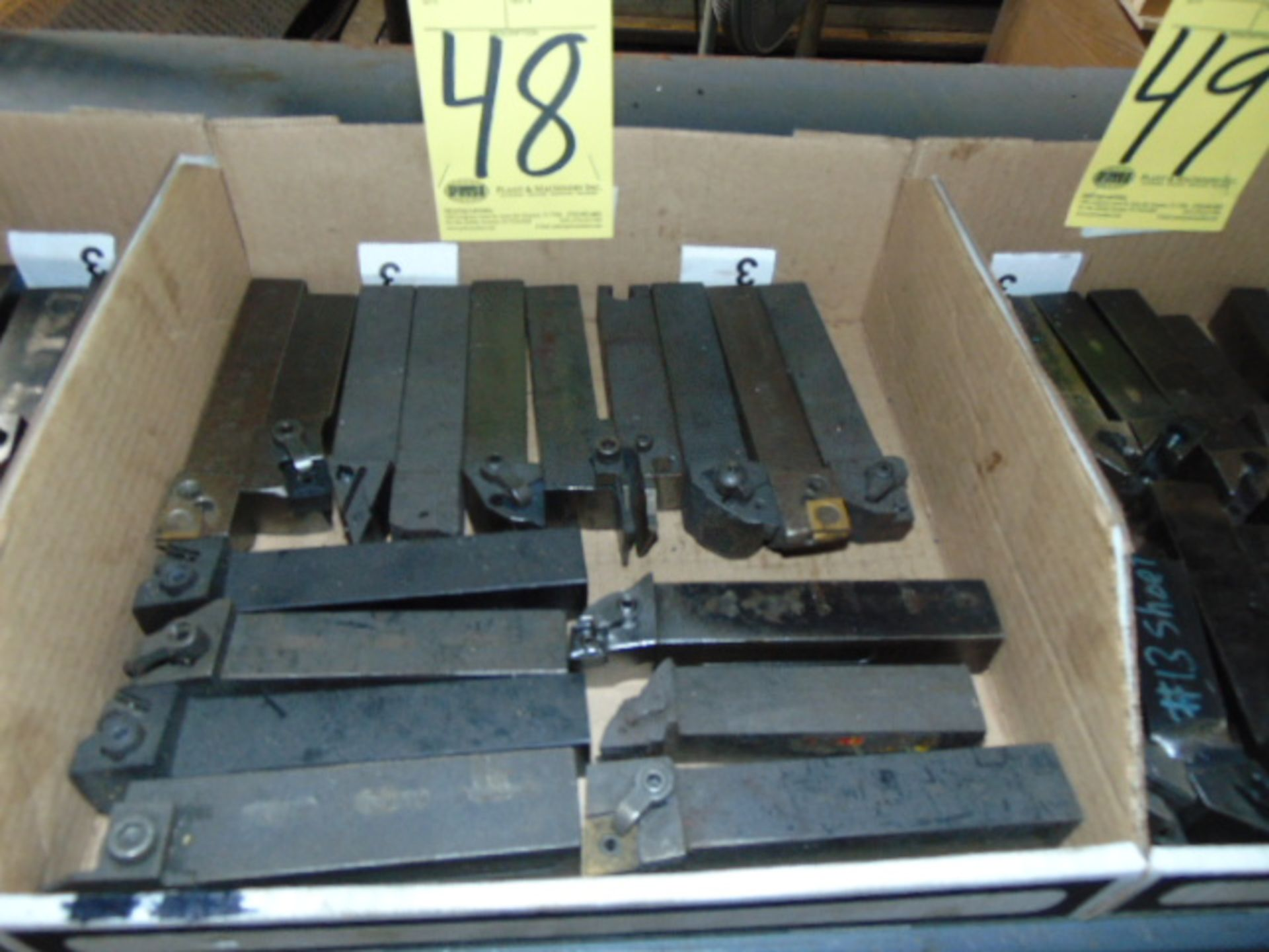 Lot 48 - LOT OF INDEXABLE TURNING HOLDERS, assorted (in one box)