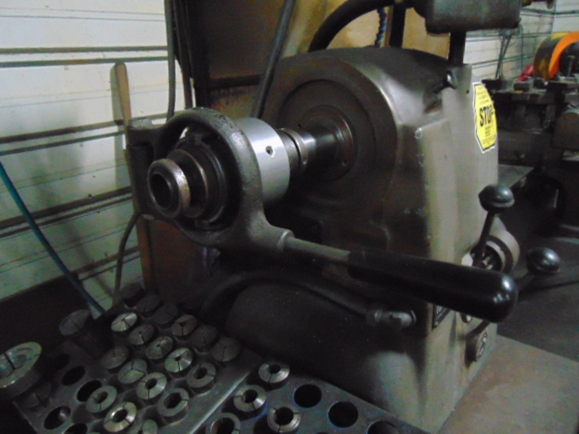 Lot 42 - CHUCKER, HARDINGE MDL. HC, 6 pos. turret, spds: 125-3000 RPM, lever type collet closer, assorted