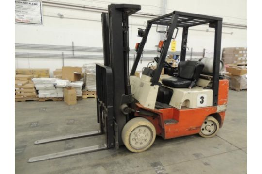 Nissan Model CTJ02A25P Forklift, 192 in  Lift of 3-Stage