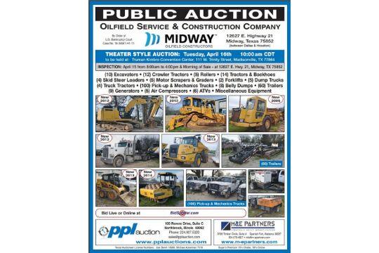 10) Excavators • (12) Crawler Tractors • (5) Rollers • (14) Tractors