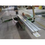 Lot 15 - Ortza Panel Saw Model SE-300, S/N 2204058, Sliding Table, with Scoring Blade