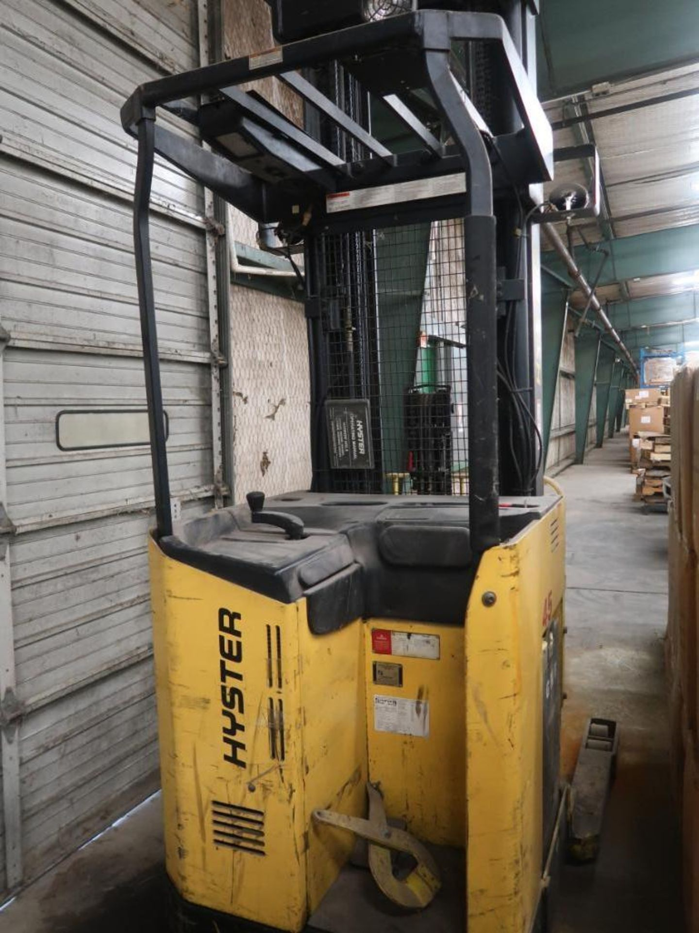 Lot 246 - Hyster 3400 lb. Electric Lift Truck Model N45XMR, S/N E138H01936T, with Side Shift (as is)
