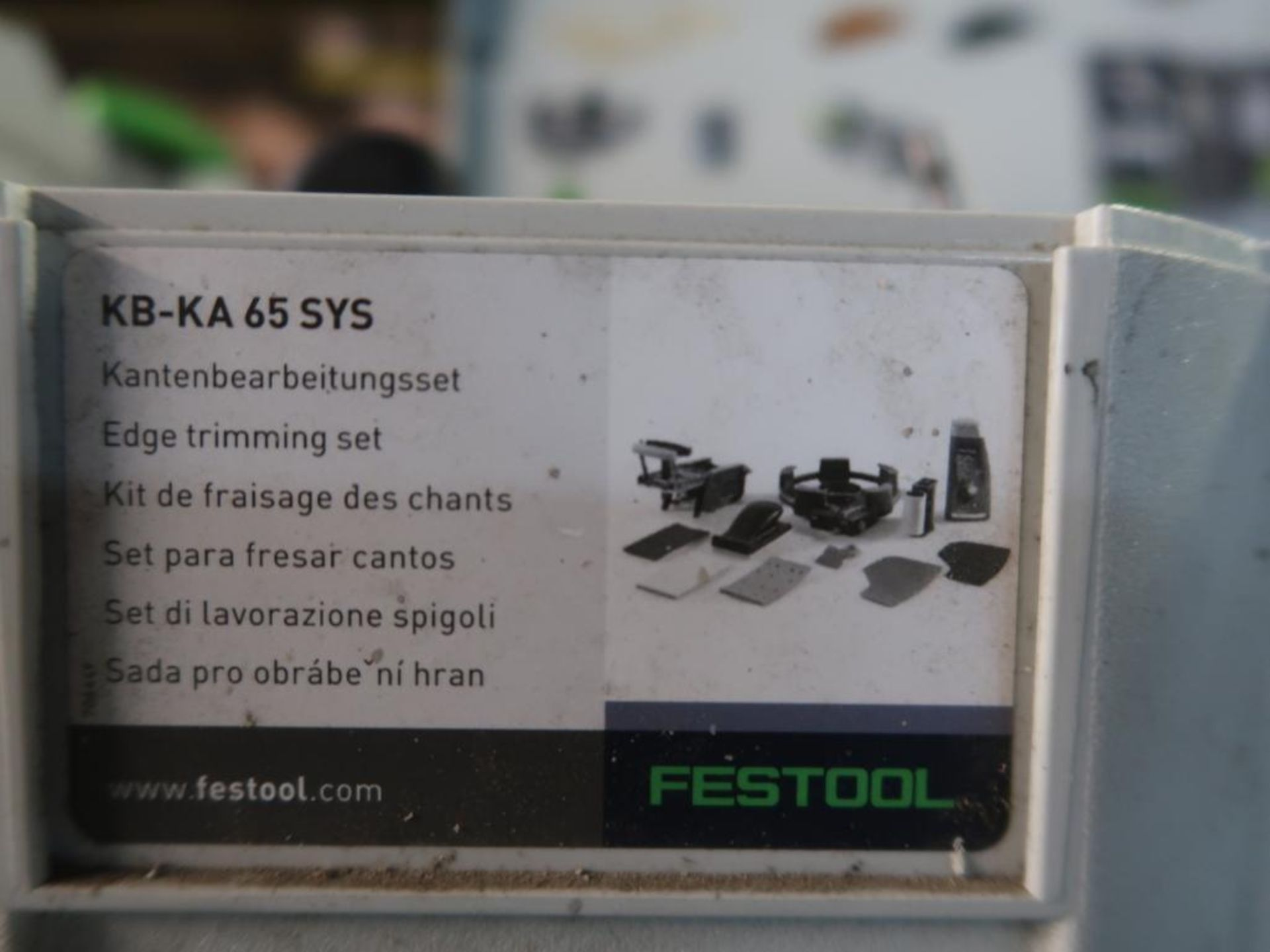 Lot 139 - LOT: Festool System including: (1) KA65 Plus Edge Bander, (1) MFK700 3mm Module Edge Router, (1)