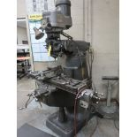 Lot 76 - Bridgeport Vertical Mill, S/N 138734, 9 in. x 42 in. Table, with Vise