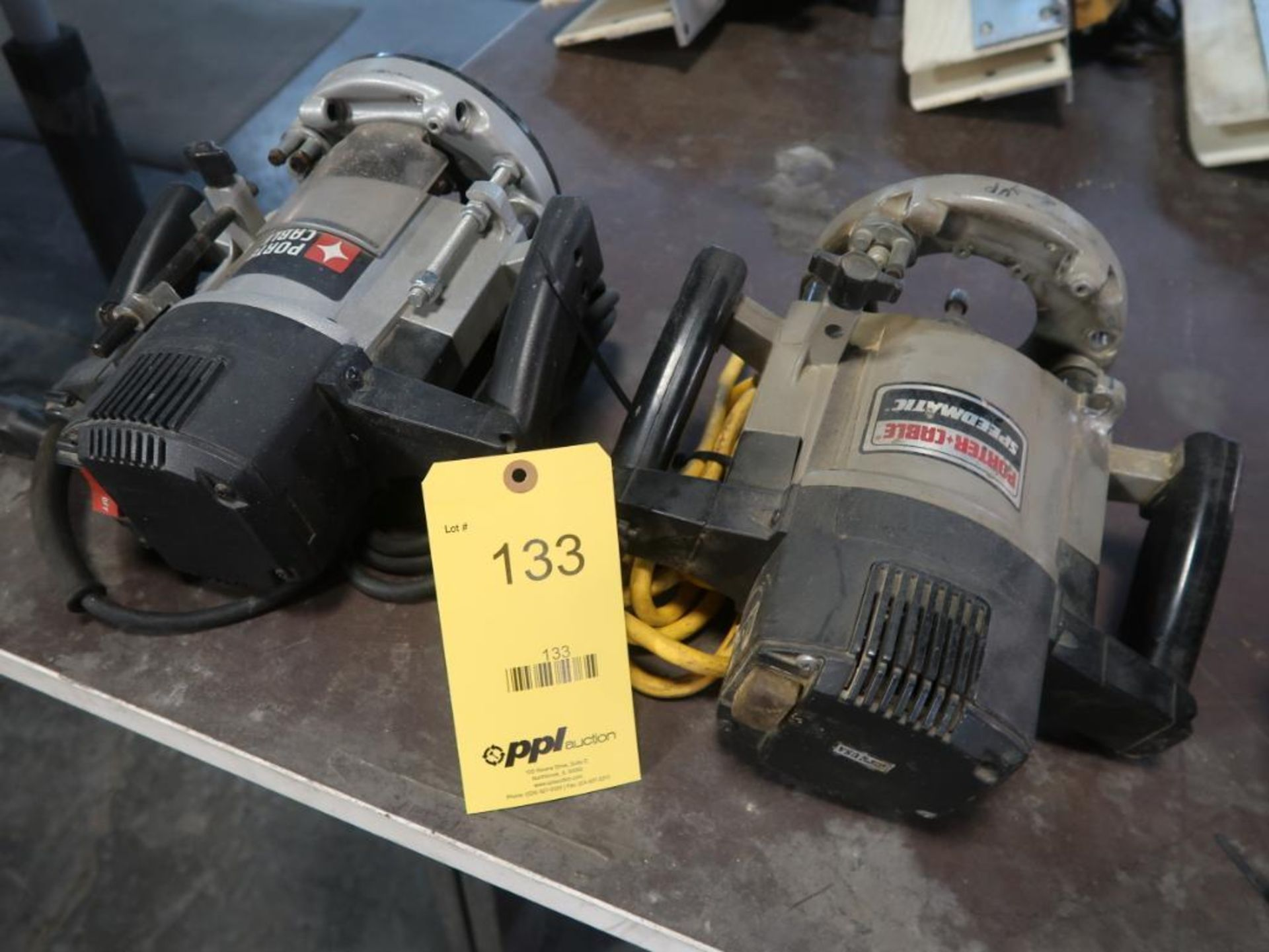 Lot 133 - LOT: (2) Porter Cable Routers