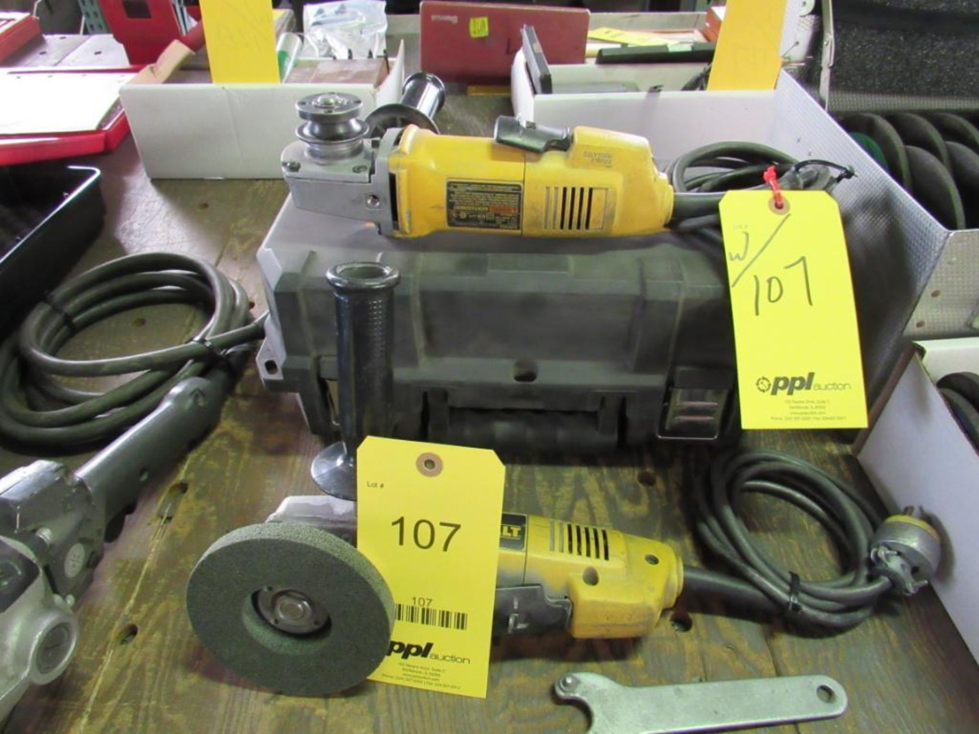 Lot 107 - LOT: (2) Dewalt 4-1/2 in. Angle Grinders
