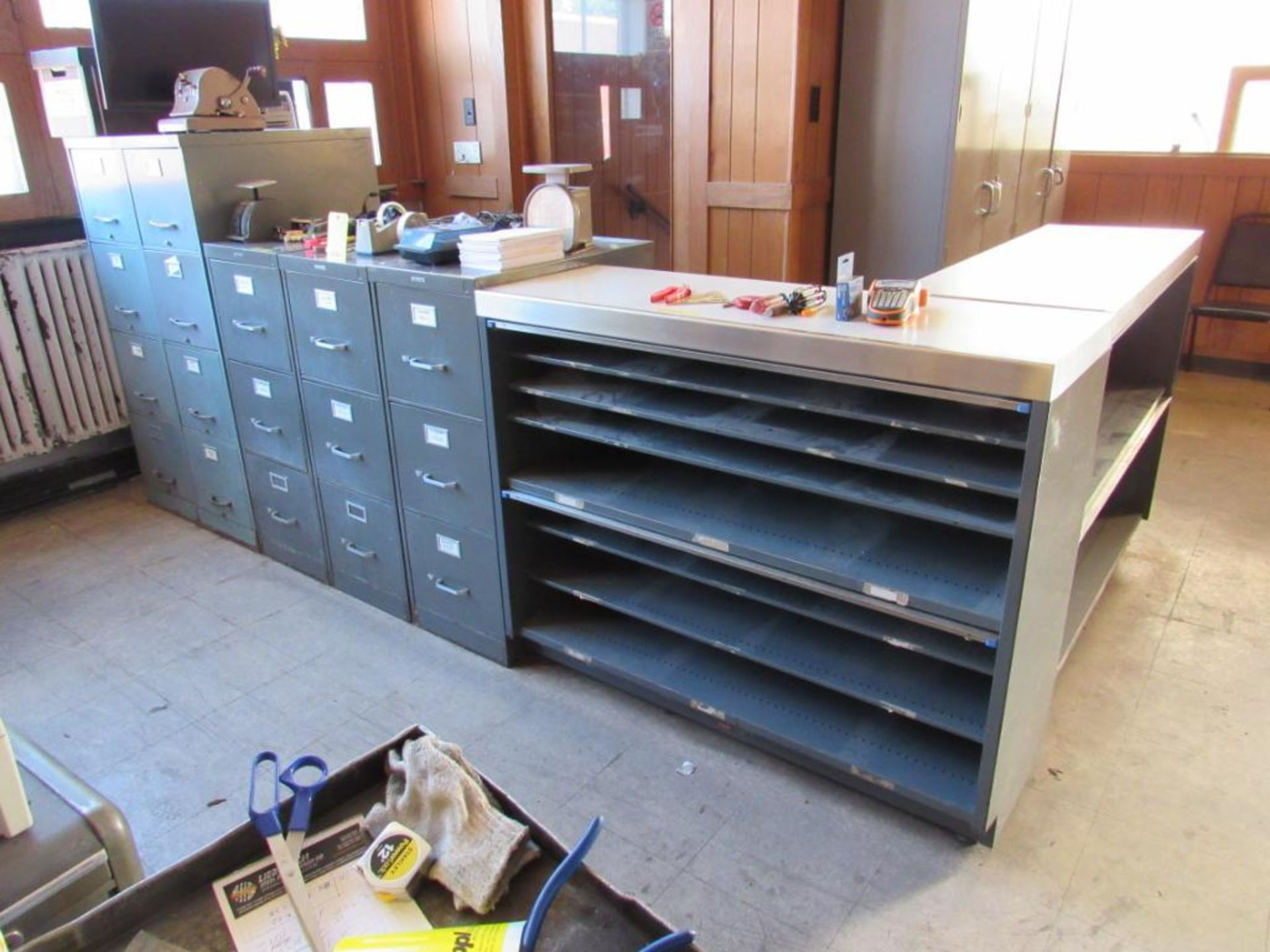 Lot 243 - LOT: (2) 4-Drawer File Cabinets, (3) 3-Drawer File Cabinets, (2) Cabinets