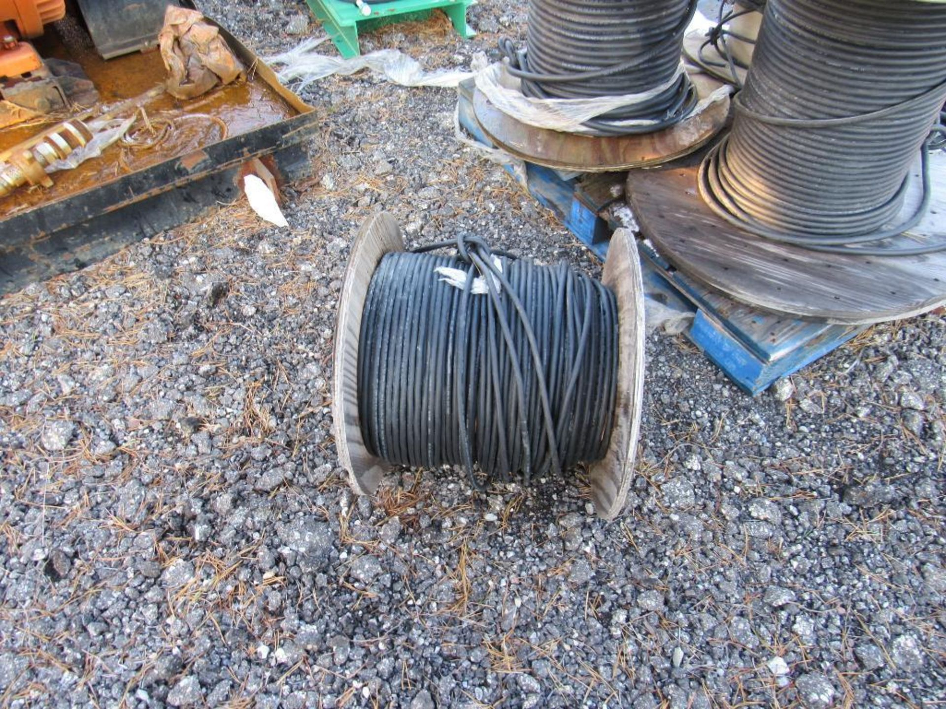 Lot 33 - LOT: (2) Pallets of Assorted Spools of Wire Cable