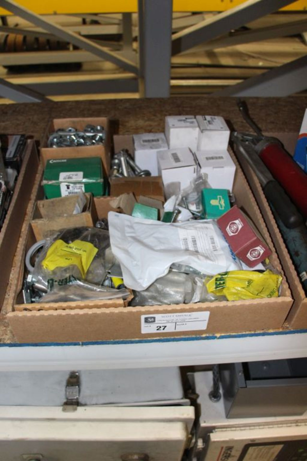 Lot 27 - assortment of hardware, bolts, nuts and misc.