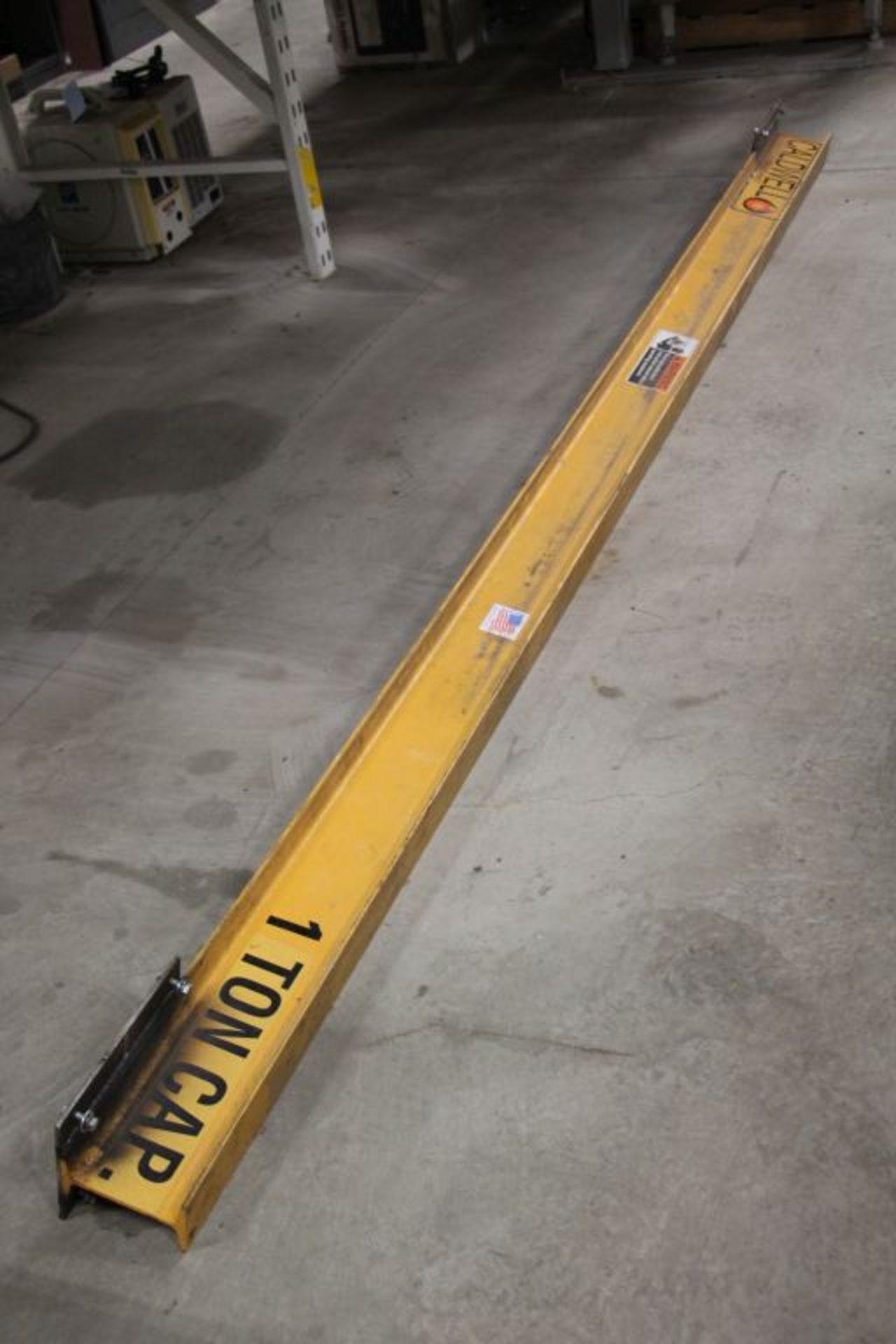 Lot 16 - CM Valuster 1 Ton Overhead Hoist with 12' beam, series 635