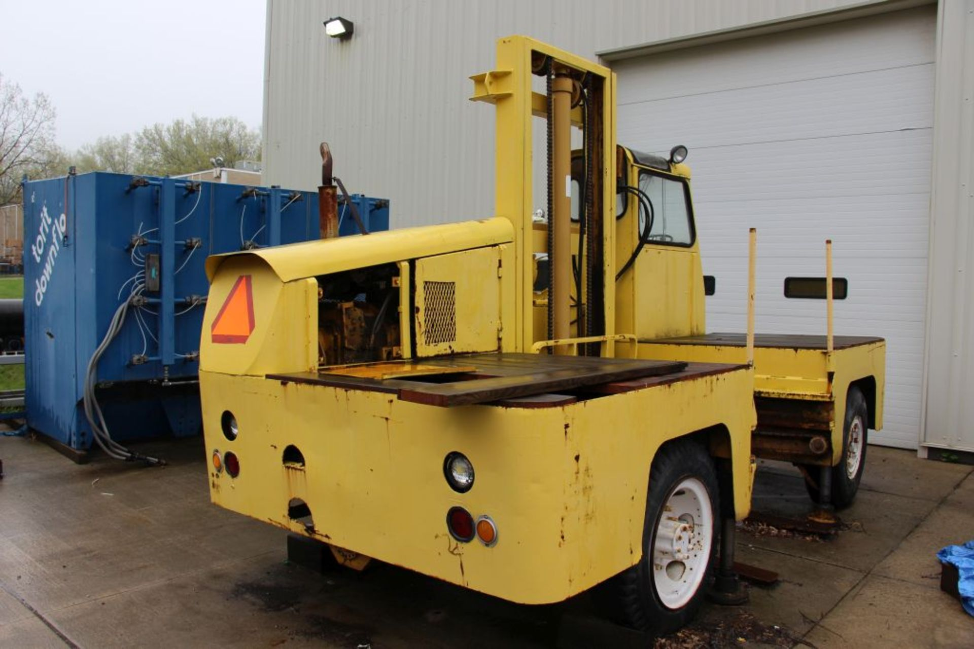 Lot 120 - Robert Morse Lancer sideloader lift truck, LP, model - TD14, capacity - 12,000