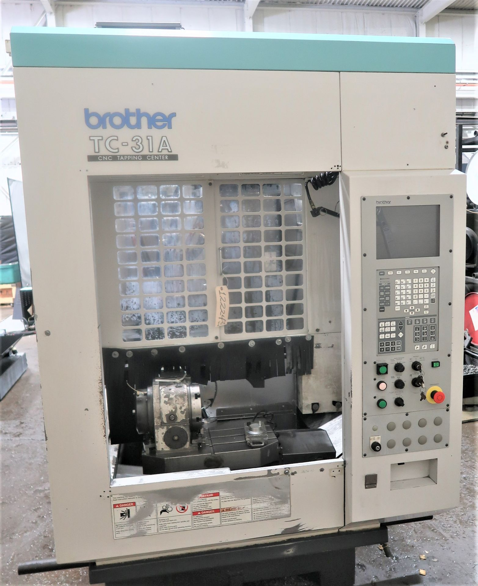 Lot 57 - Brother TC-31A High Speed CNC Drill/TAP WITH 4TH Axis, S/N 111963, New 2000