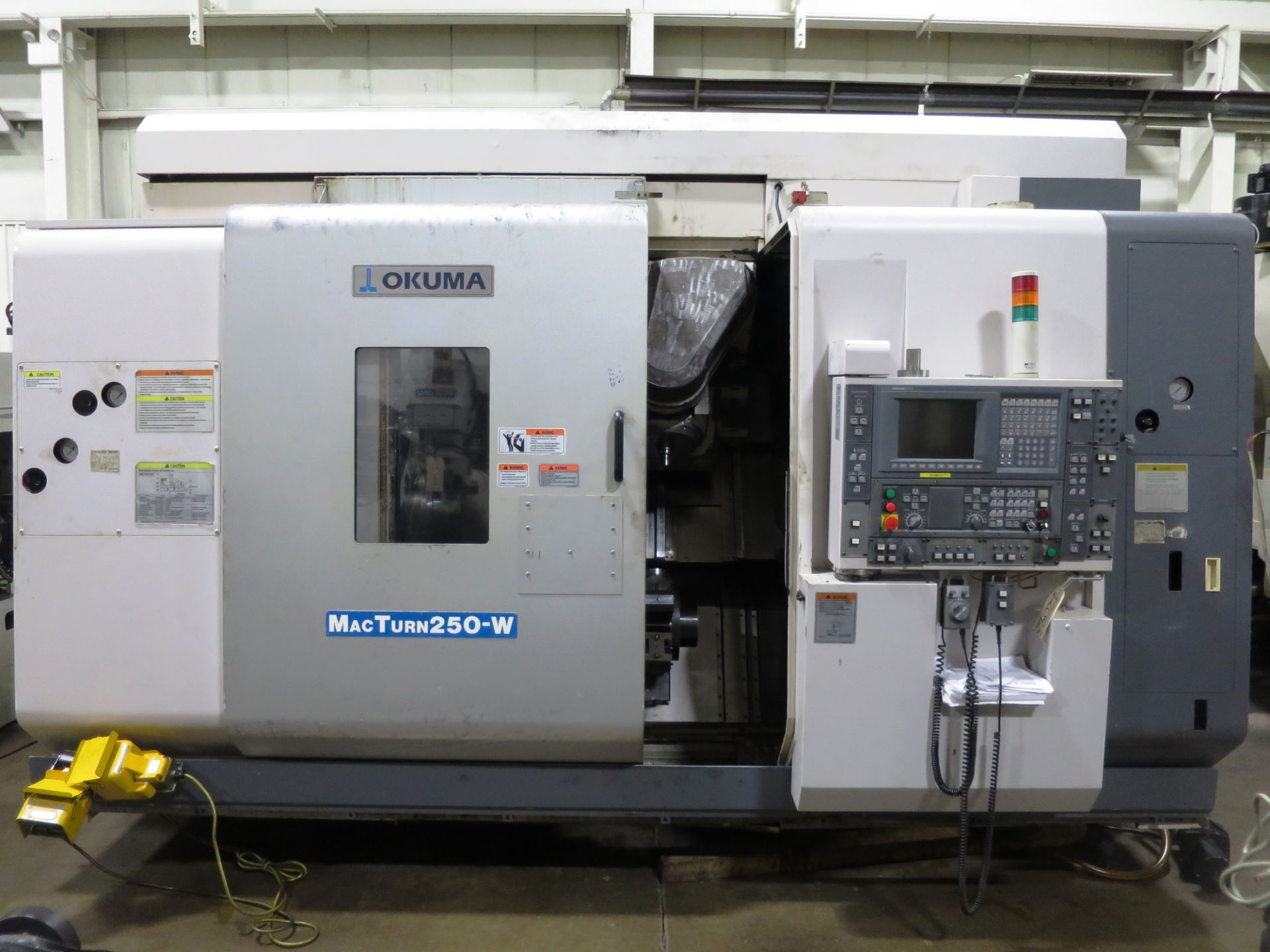 Lot 30 - Okuma Macturn 250W 9-Axis CNC Turn Mill Center Lathe, S/N 106646, New 2005