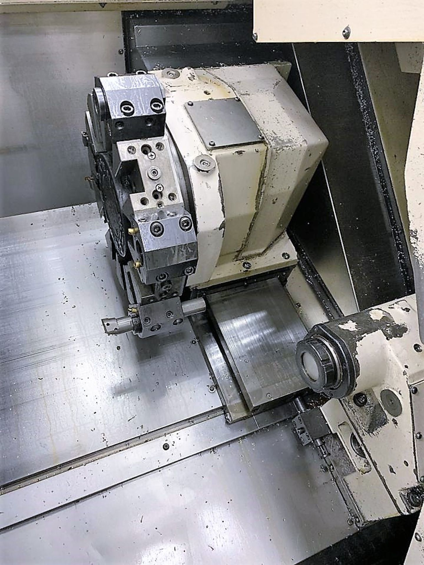 """Lot 31 - Okuma LB300C 2-Axs CNC Lathe, 8"""" 3-Jaw Chuck, S/N 117656, New 2005"""