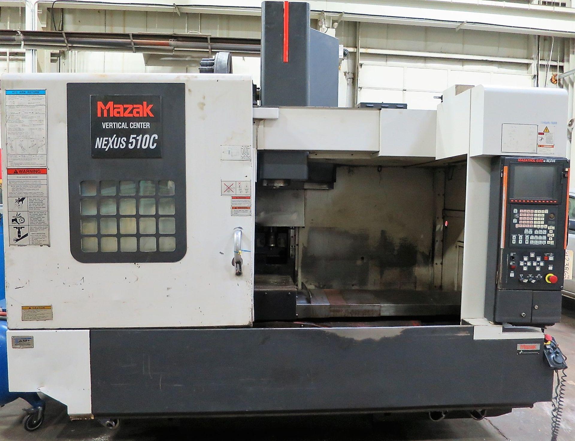 Lot 10M - MAZAK NEXUS 510C CNC HORIZONTAL MACHINING CENTER, S/N 172982, NEW 2005