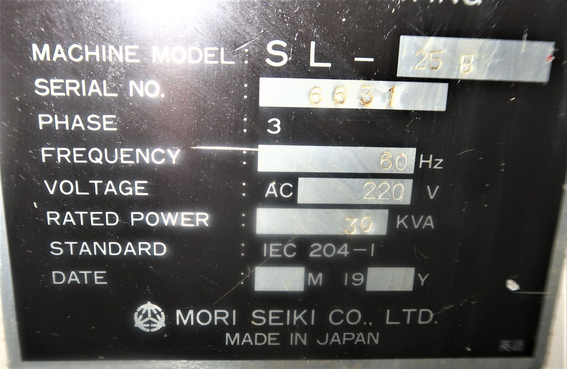 Lot 10D - MORI SEIKI SL-25 CNC 2-AXIS TURNING CENTER LATHE, S/N 6631