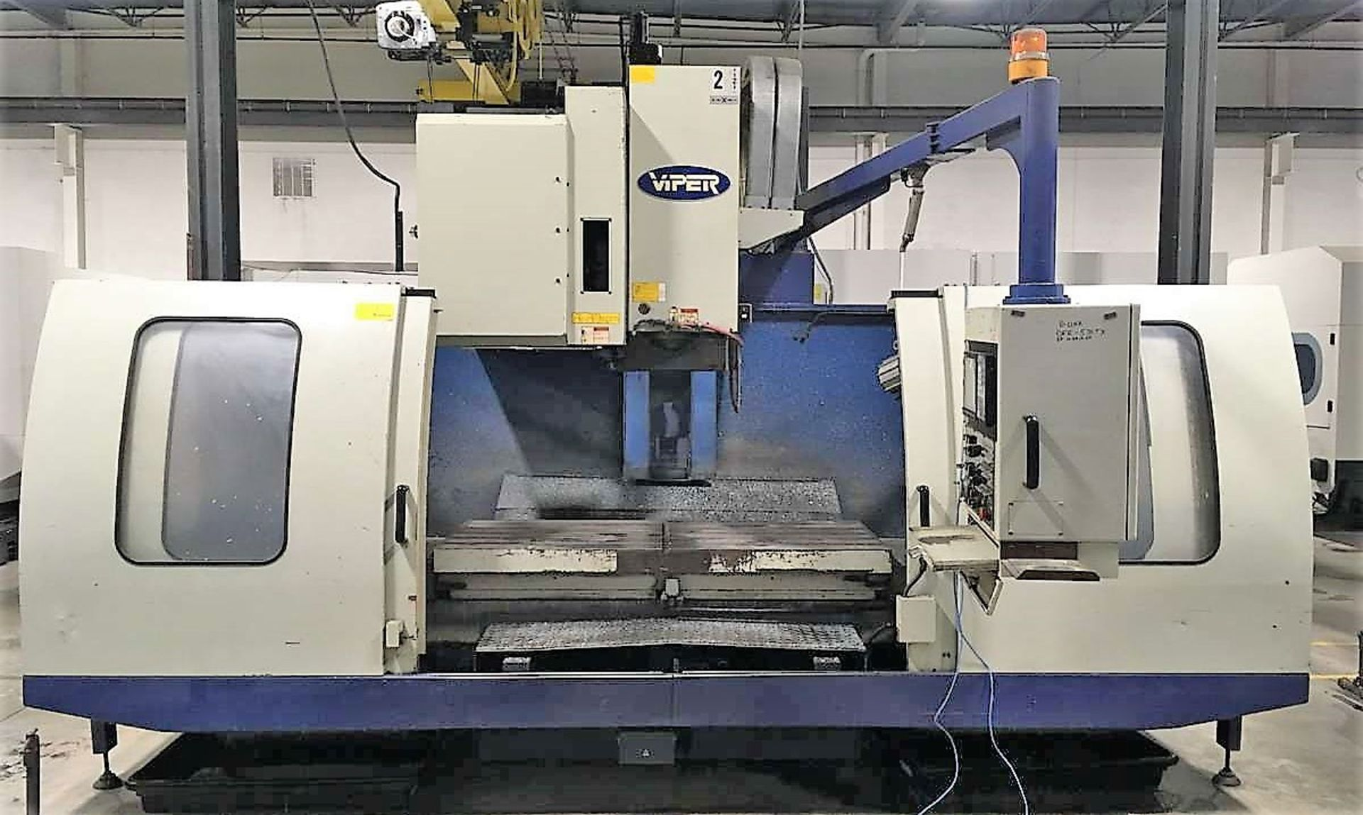 "Lot 51 - 63""x30"" Mighty Viper VMC 1500AG/HV-70A CNC Vertical Machining Center, 50 Taper, S/N 2755"