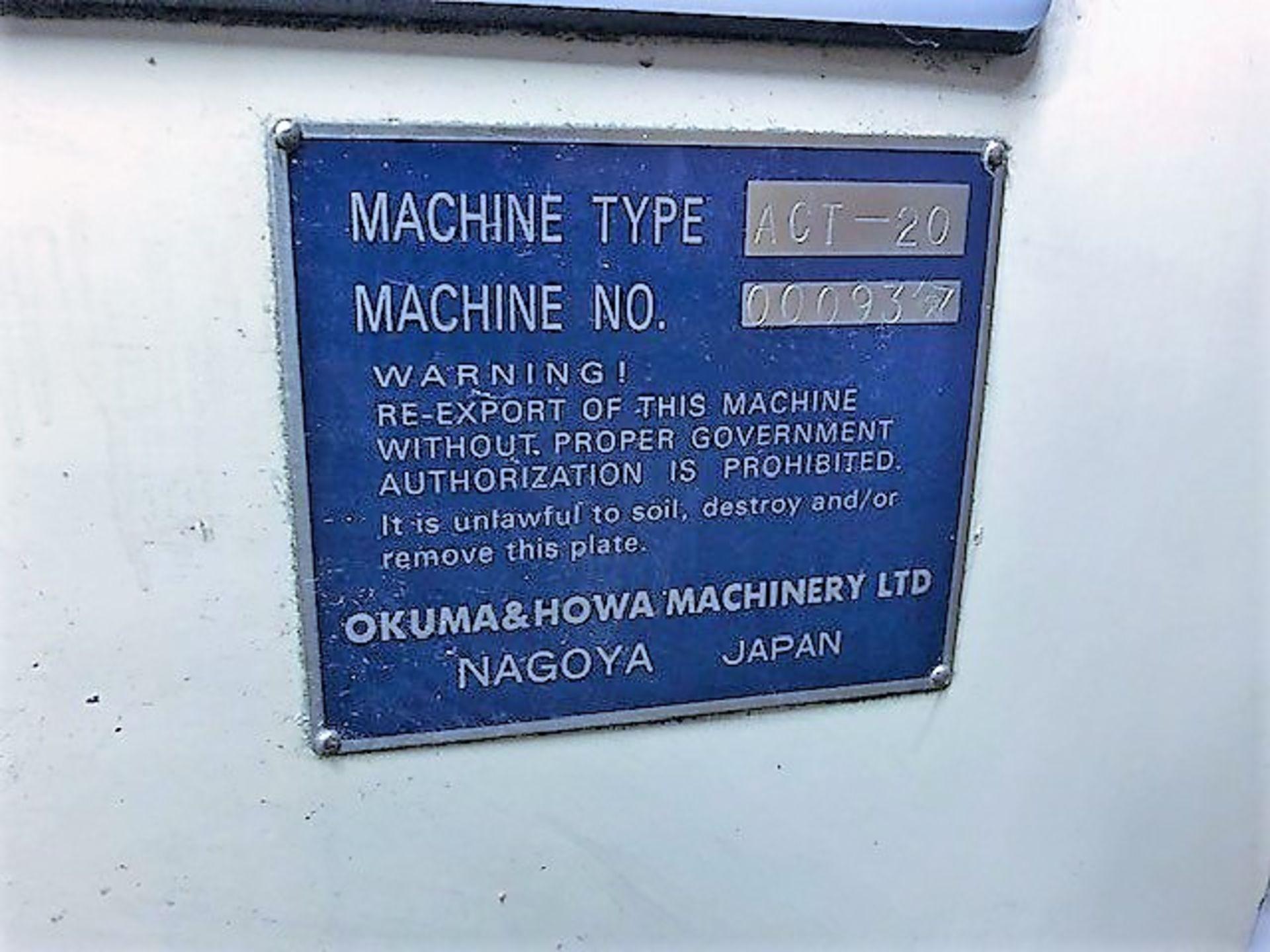 Lot 27B - Okuma & Howa ACT-20 CNC Lathe, S/N 00093