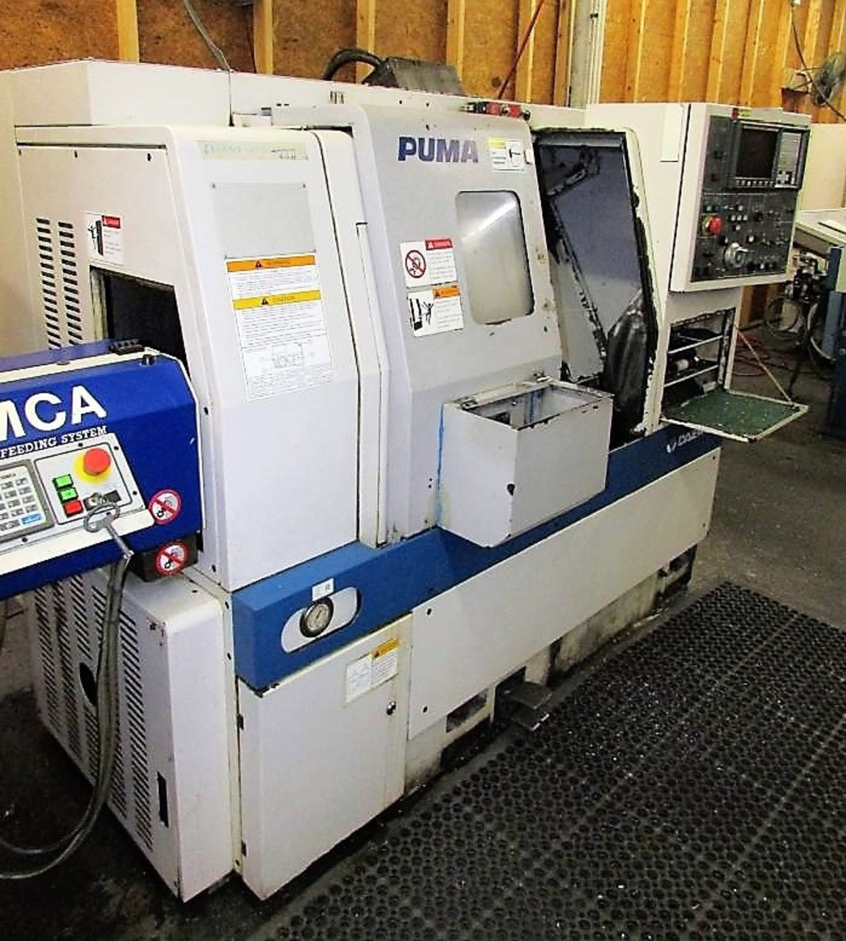 Lot 47 - Daewoo Puma 160GT 2-Axis CNC Gang Turn Turning Center Lathe, S/N PL160-0220, New 2002