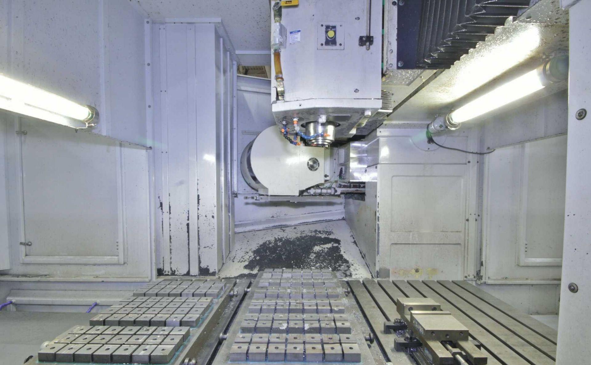 """Lot 17 - 40""""x40"""" Pallets Milltronics TT40 CNC Vertical Machining Center, New 2010, S/N 10587"""