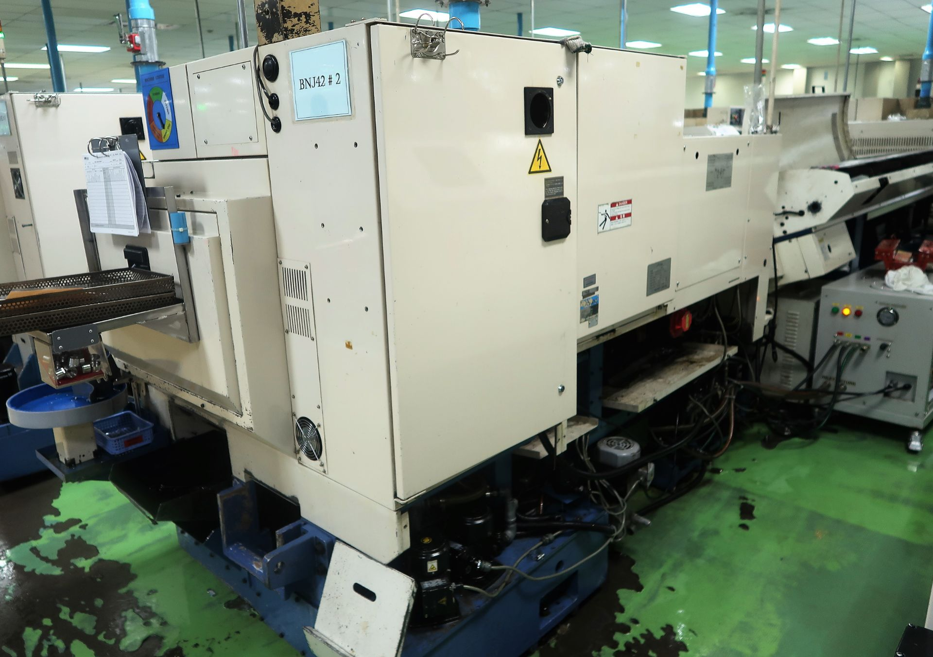 Lot 48 - Miyano BNJ-42S, 2 Spindles, 2 Turrets, Live Tools, C-Axis, Lathe, S/N BN80388S, New 2005