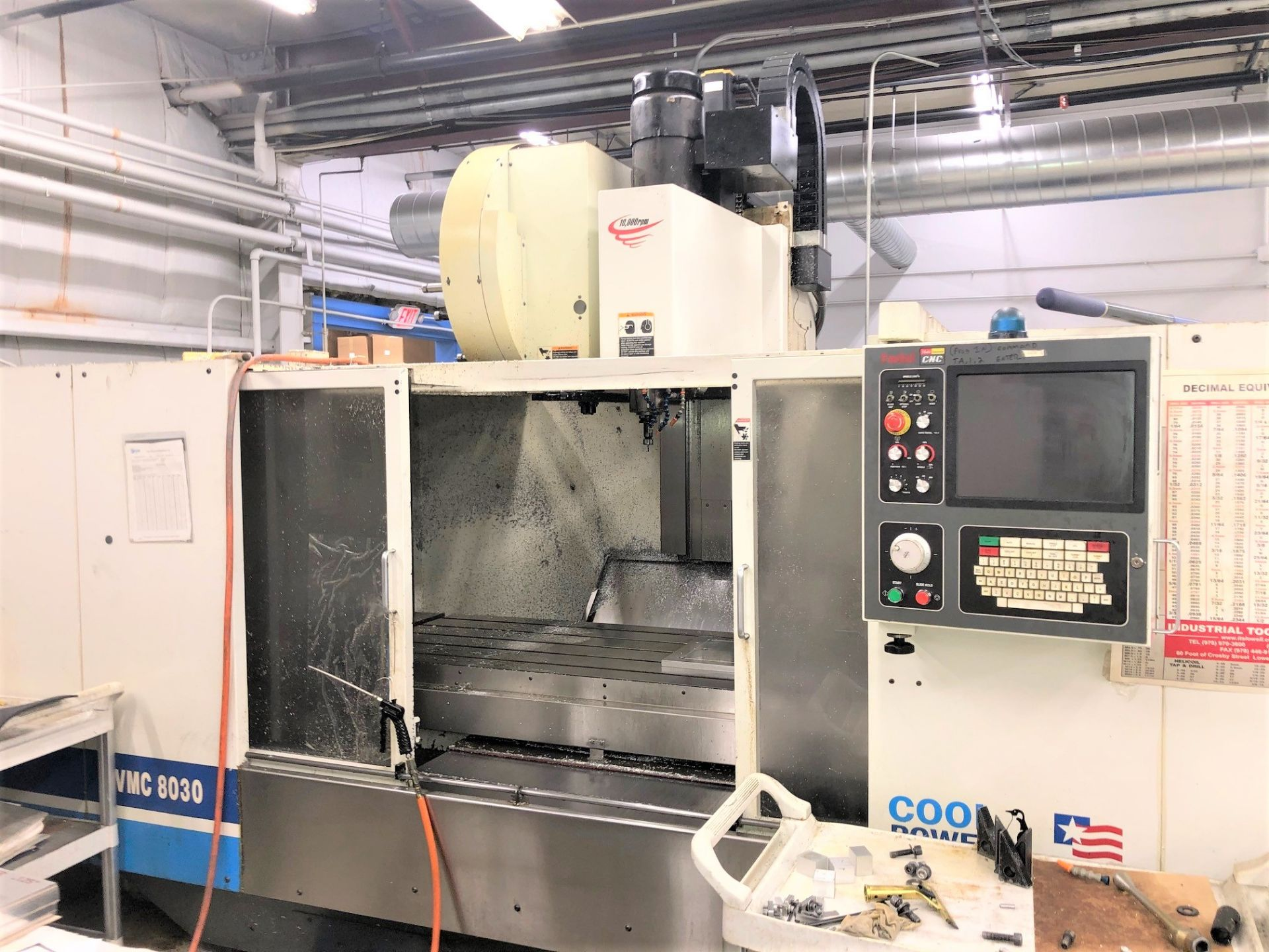 Lot 16 - Fadal VMC 8030-HT CNC 3-Axis Vertical Machining Center, New 2004