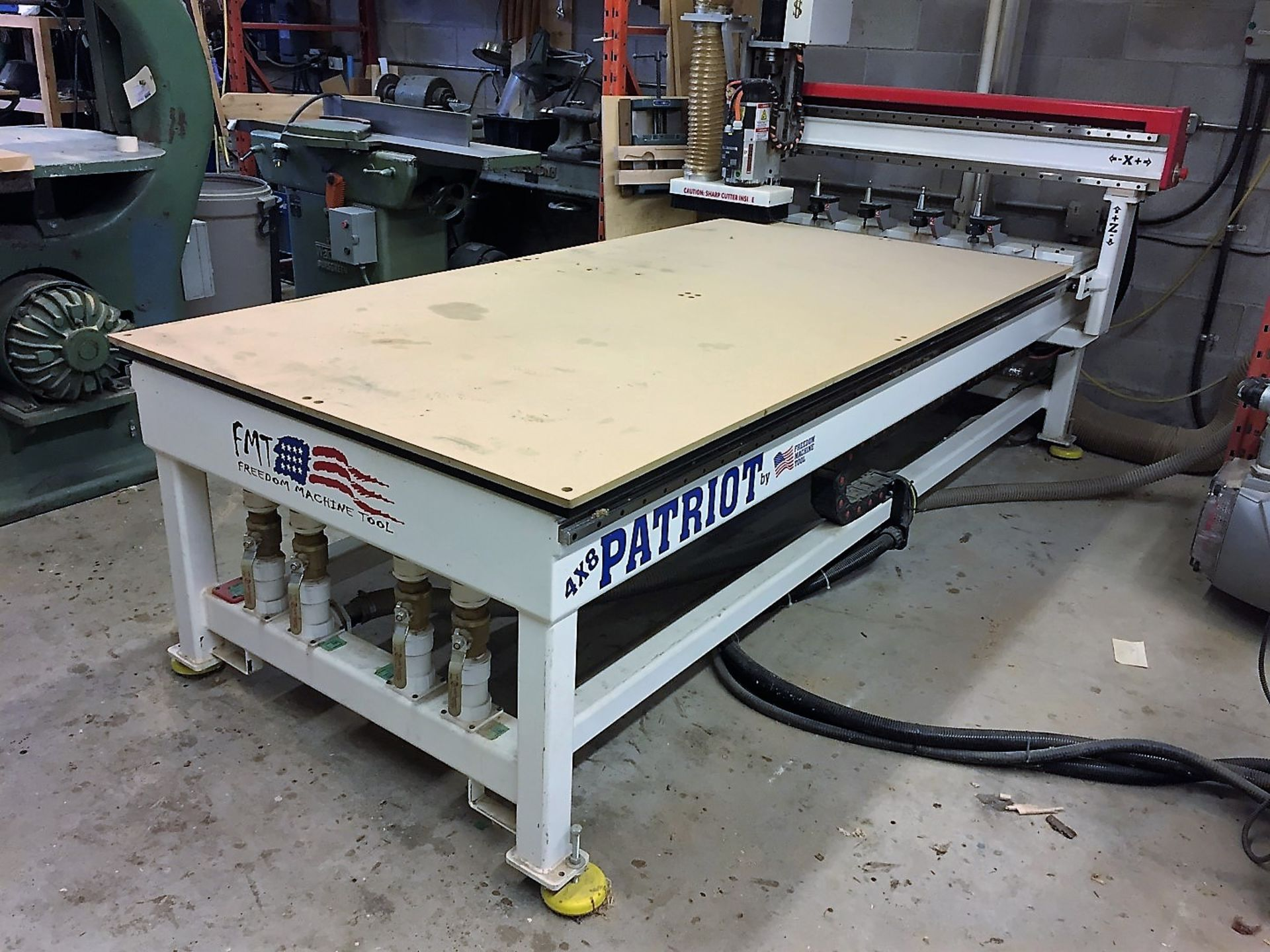 Lot 15 - 4'x8' Freedom Machine Model FMT-F35-4-8-7 CNC Router, S/N 40G&, New 2012
