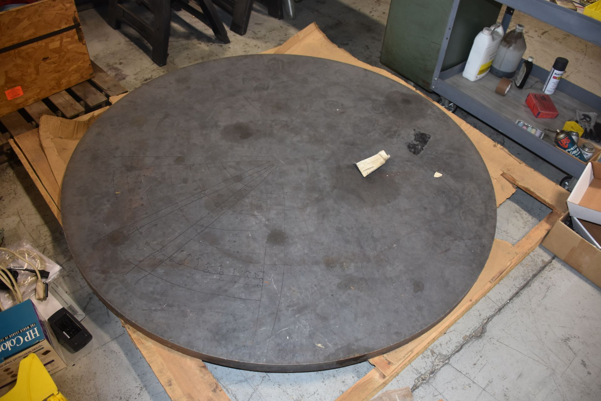 "Lot 35 - A36 Alloy Hot Rolled Steel Plate, 70"" Diameter, 2"" Thickness"