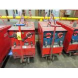 Lot 26 - (2) HOBART TR300 TIG WELDERS W/CARTS, CUT POWER CORDS