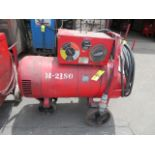 Lot 46G - LINCOLN SAE 300 TIG WELDER W/ CART AND W/ WELDING LEADLINCOLN SAE 300 TIG WELDER W/ CART AND W/