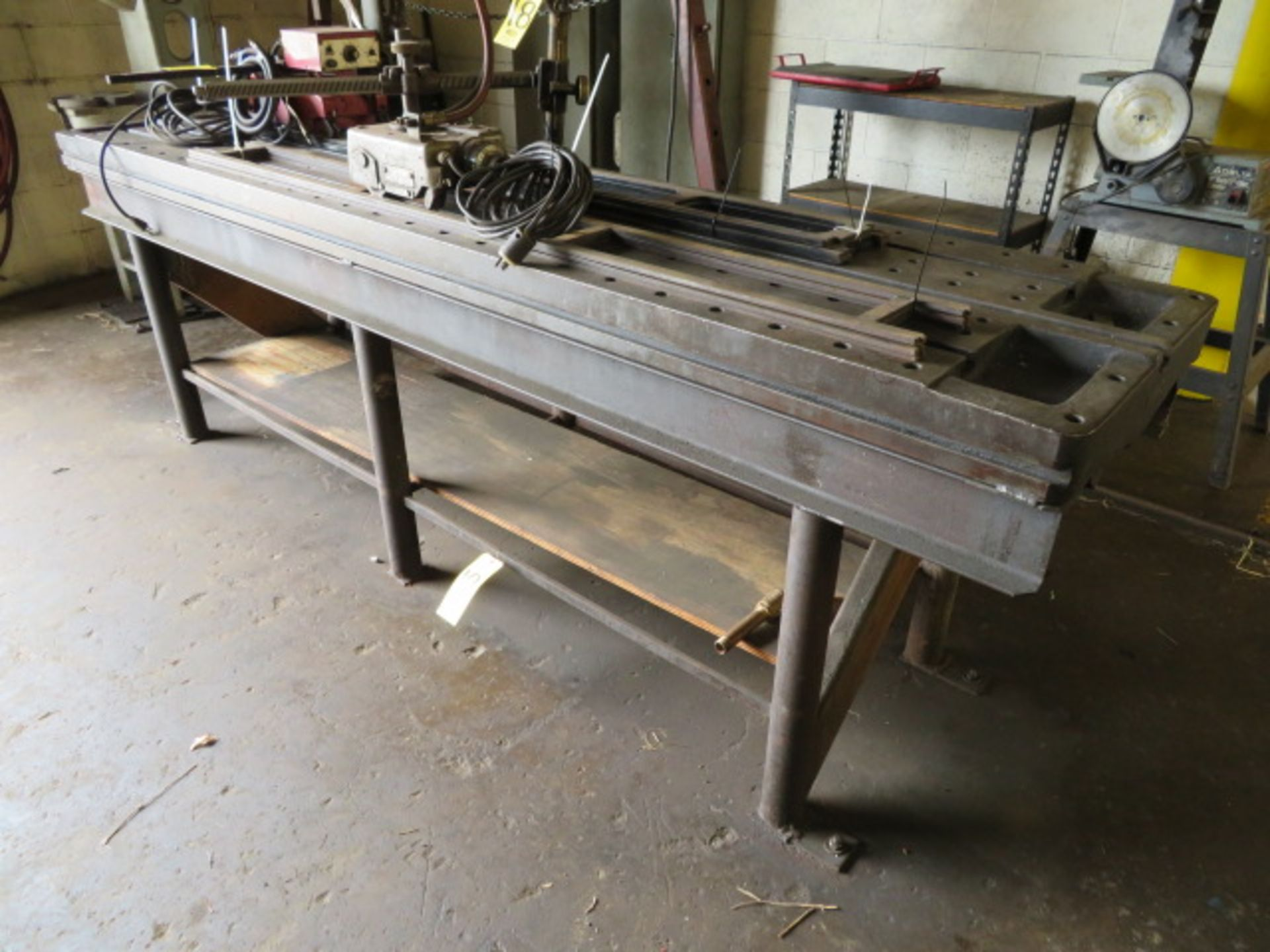 """Lot 19 - 25""""X110"""" SLOTTED & MILLED LAYOUT TABLE W/IRON BASE"""