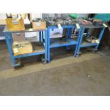 Lot 133 - (2) MOBILE CARTS AND (1) STATIONARY TABLE