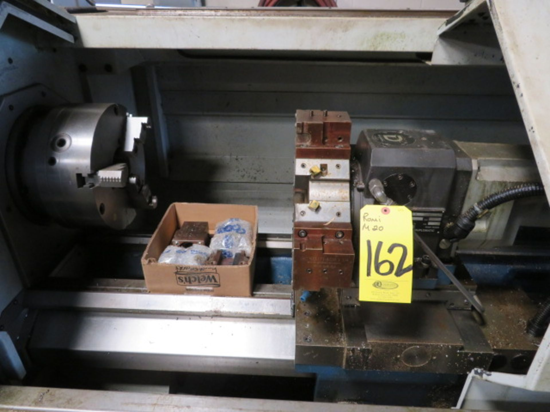 "Lot 162 - 2007 ROMI M-20 CNC LATHE, S/N 002-092875-404, FANUC 20i-T Control, 3.15 Spdl. Dia., 20"" x 80"" W/"