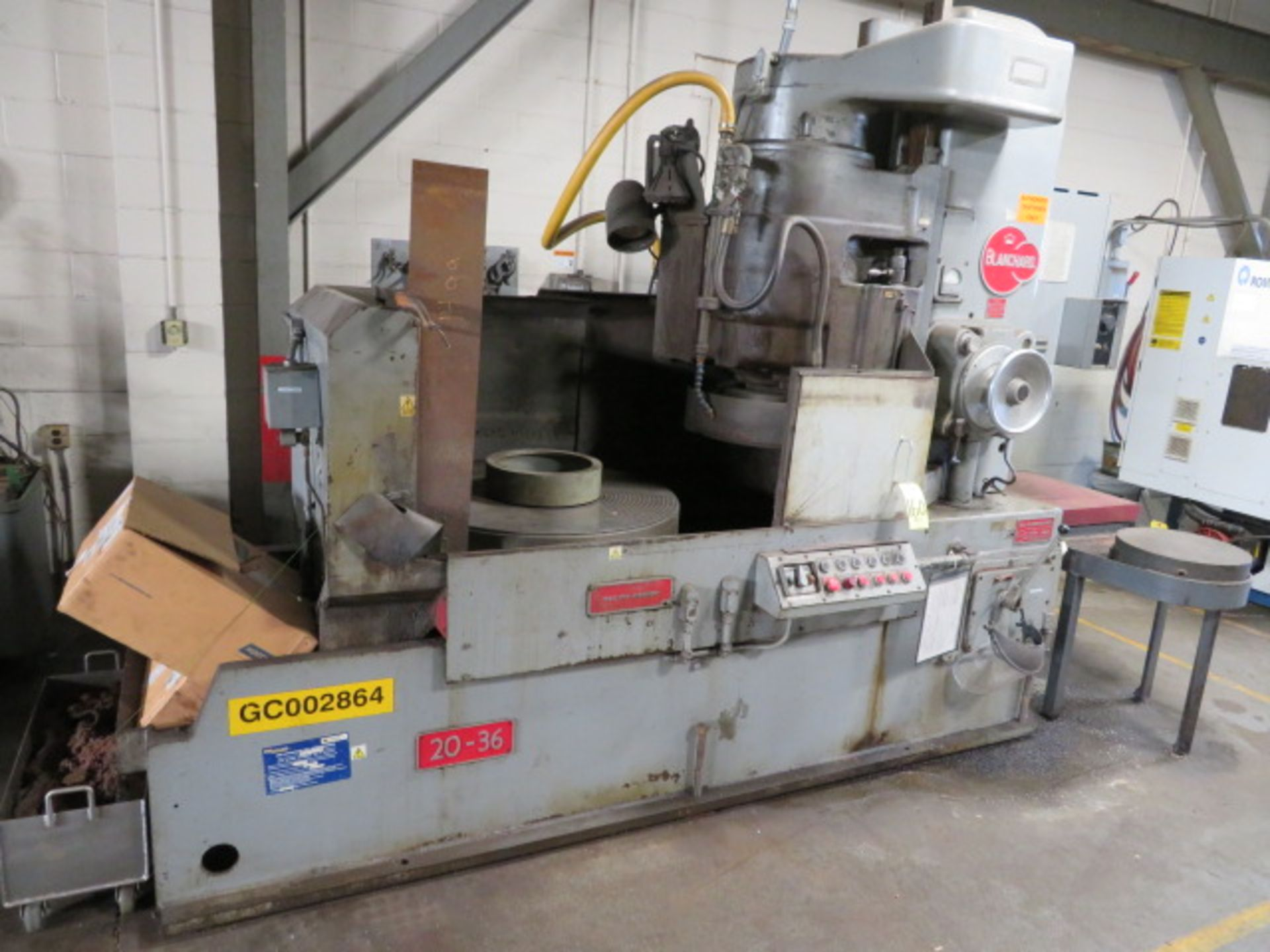"""Lot 160 - 1980 BLANCHARD 20-36 Rotary Surface Grinder, S/N 20-15-239, 22KW (30HP), 5/16"""" Chuck, Electro-Mag"""